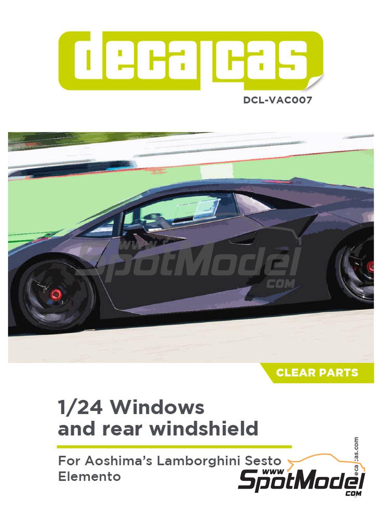 Lamborghini Sesto Elemento | Transparentes en escala1/24 fabricado por Decalcas (ref.DCL-VAC007) image
