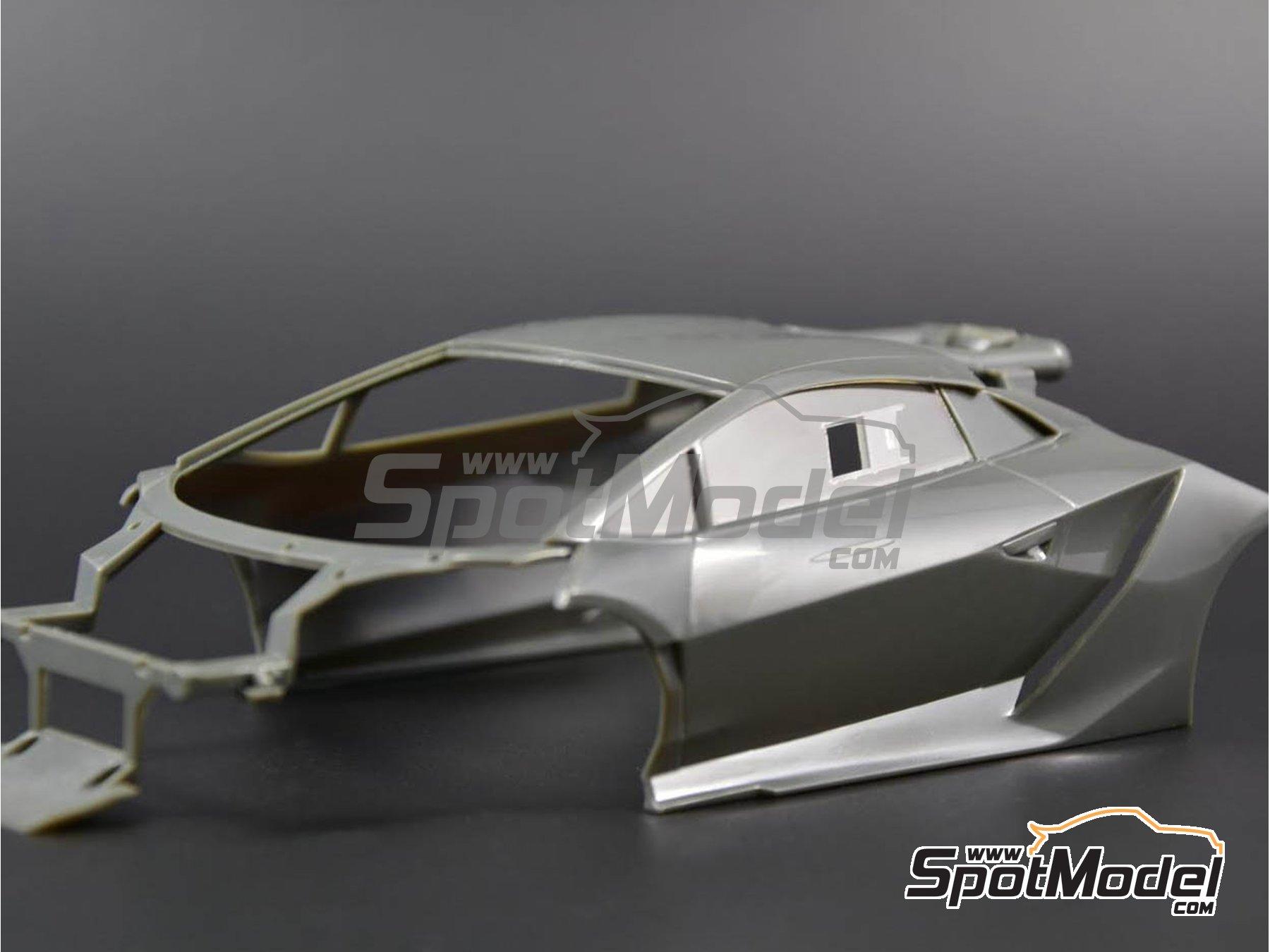 Image 2: Lamborghini Sesto Elemento | Transparentes en escala1/24 fabricado por Decalcas (ref.DCL-VAC007)