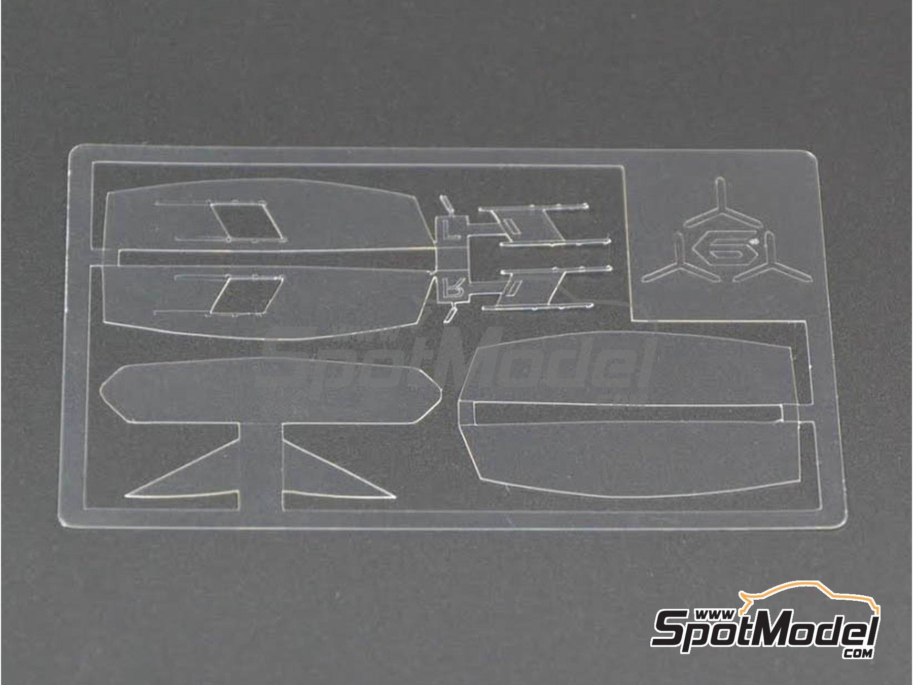 Image 5: Lamborghini Sesto Elemento | Transparentes en escala1/24 fabricado por Decalcas (ref.DCL-VAC007)