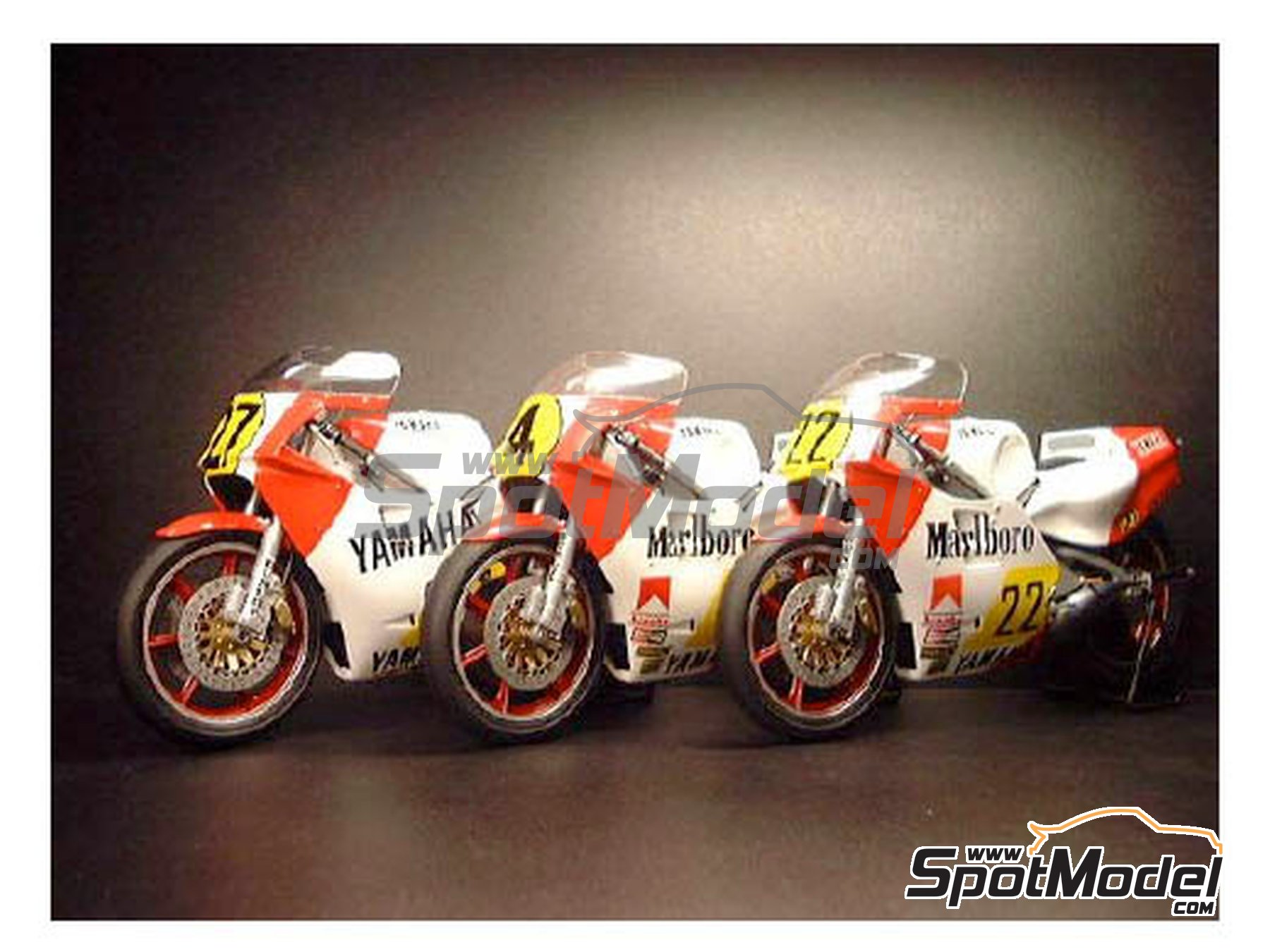 Image 2: Yamaha YZR500 OW70 Marlboro - Motorcycle World Championship 1983 | Marking / livery in 1/12 scale manufactured by Decalpool (ref.DP018)