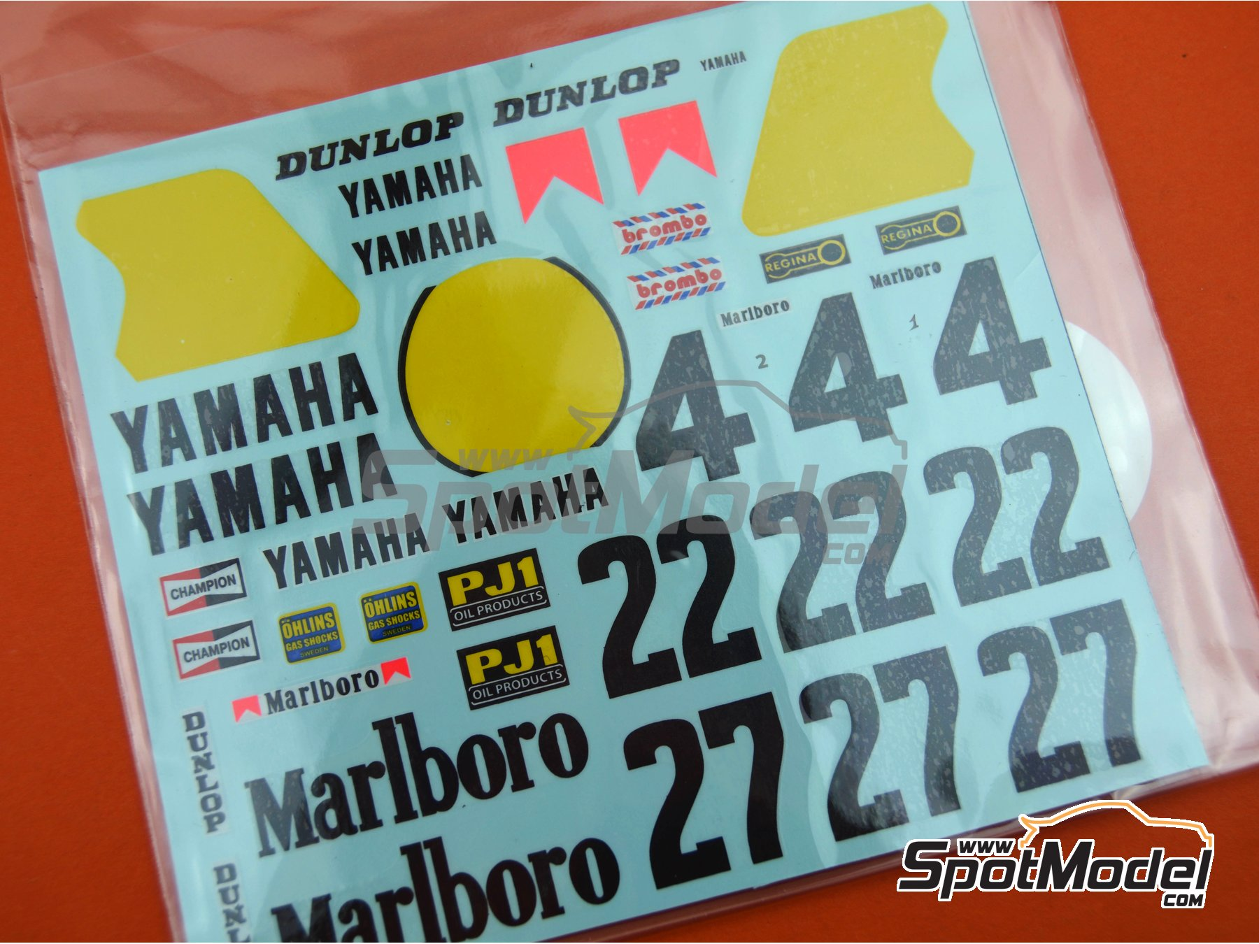 Image 3: Yamaha YZR500 OW70 Marlboro - Motorcycle World Championship 1983 | Marking / livery in 1/12 scale manufactured by Decalpool (ref.DP018)