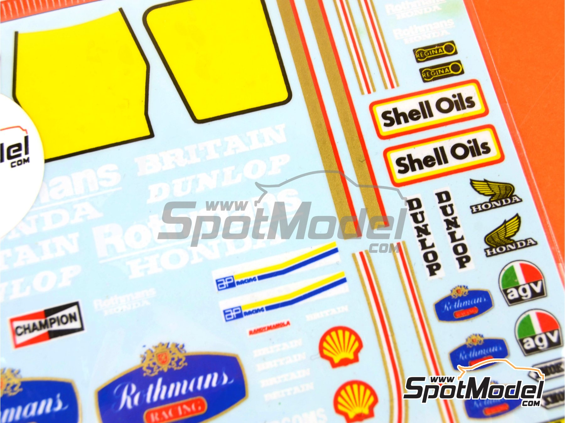 Image 4: Honda NS500 Rothmans - Motorcycle World Championship 1985 | Marking / livery in 1/12 scale manufactured by Decalpool (ref.DP036)
