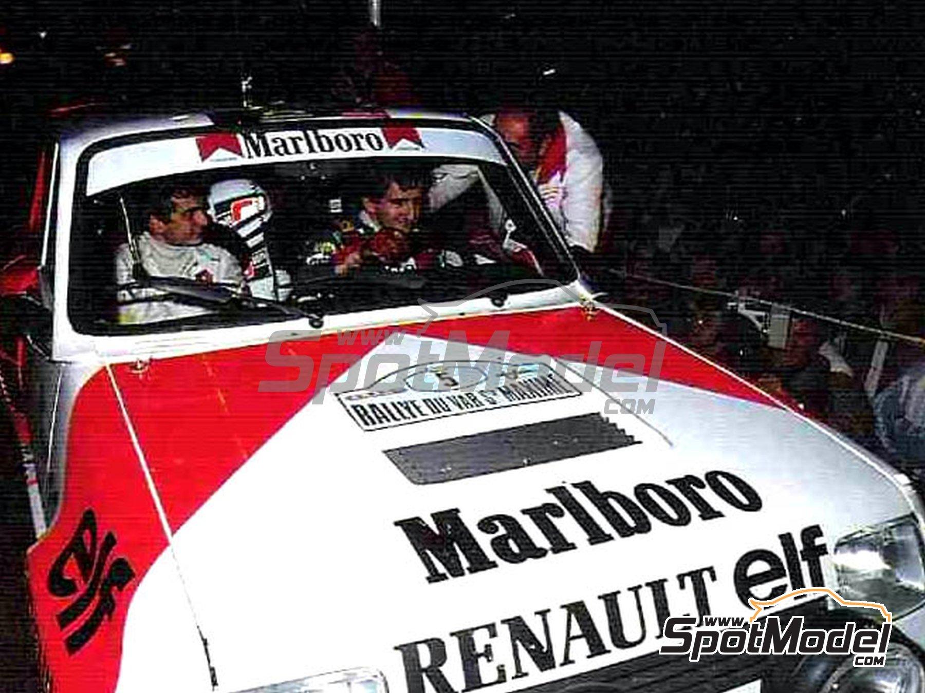 Image 1: Renault 5 Turbo Marlboro - Rally Du Var 1982 | Calcas de agua en escala1/24 fabricado por Decalpool (ref.DP046)
