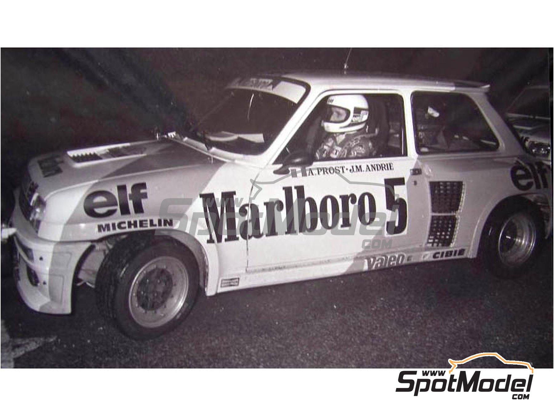 Image 2: Renault 5 Turbo Marlboro - Rally Du Var 1982 | Calcas de agua en escala1/24 fabricado por Decalpool (ref.DP046)