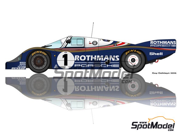 Image 3: Porsche 956 - 24 Hours Le Mans 1983 | Marking / livery in 1/24 scale manufactured by Decalpool (ref. DP047)