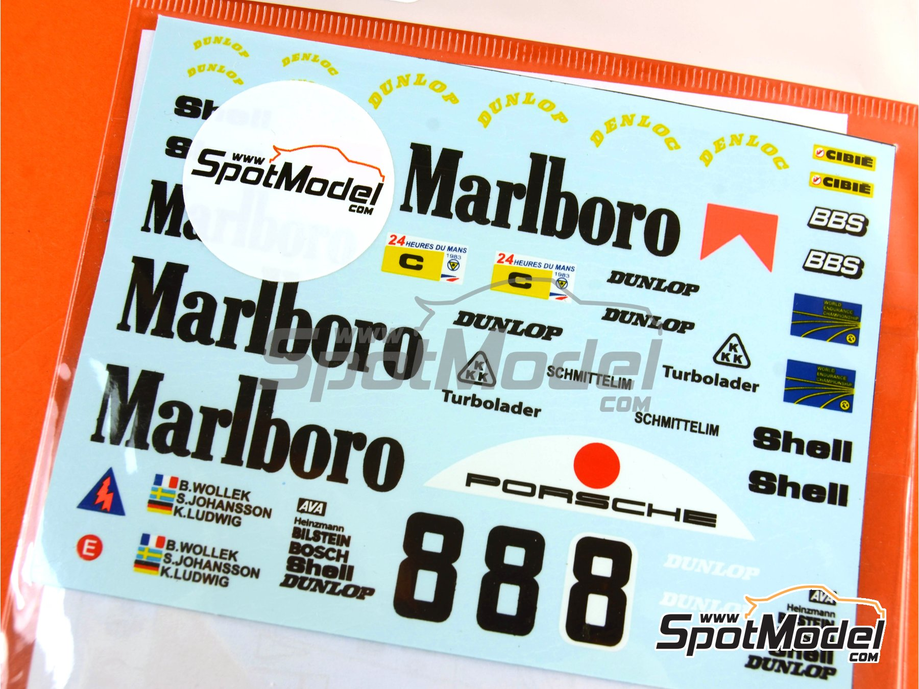 Image 3: Porsche 956 Marlboro - 24 Hours Le Mans 1983 | Marking / livery in 1/24 scale manufactured by Decalpool (ref. DP048)