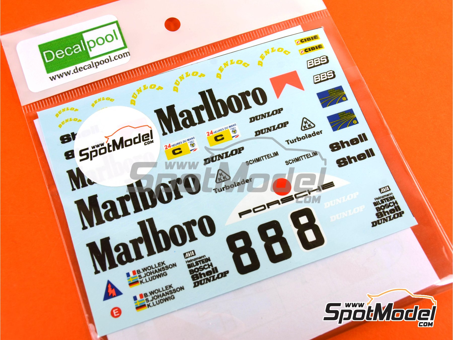 Image 4: Porsche 956 Marlboro - 24 Hours Le Mans 1983 | Marking / livery in 1/24 scale manufactured by Decalpool (ref. DP048)