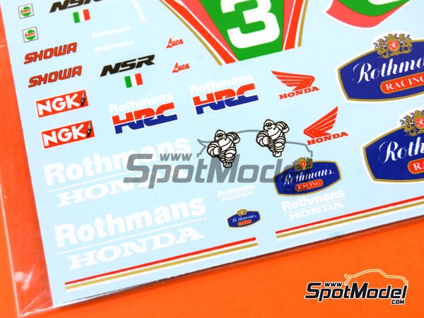 Image 6: Honda NSR250 Rothmans - Campeonato del Mundo de Motociclismo 1991 | Decoración en escala1/12 fabricado por Decalpool (ref.DP056)