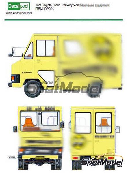 Toyota Hiace Mooneyes Equipment | Decoración en escala1/24 fabricado por Decalpool (ref.DP094) image
