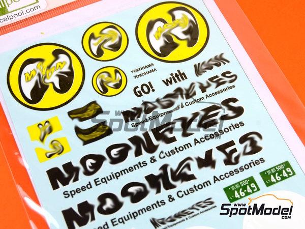 Image 3: Toyota Hiace Mooneyes Equipment | Decoración en escala1/24 fabricado por Decalpool (ref.DP094)