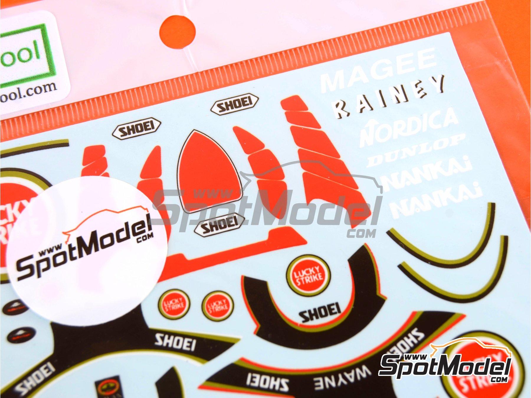 Image 3: Kevin Magee y Wayne Rainey Lucky Strike - Campeonato del Mundo de Motociclismo 1988 y 1989 | Decoración en escala1/12 fabricado por Decalpool (ref.DP098)