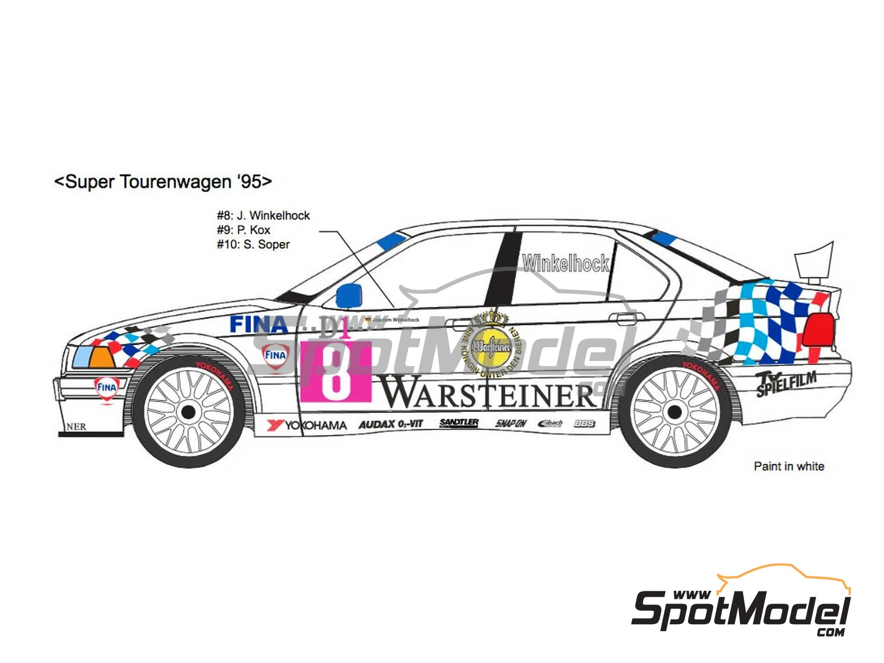 Image 1: BMW 318i Warsteiner - Guia Race of Macau, German Supertouring Championship - STW 1995 | Marking / livery in 1/24 scale manufactured by Decalpool (ref.DP109)
