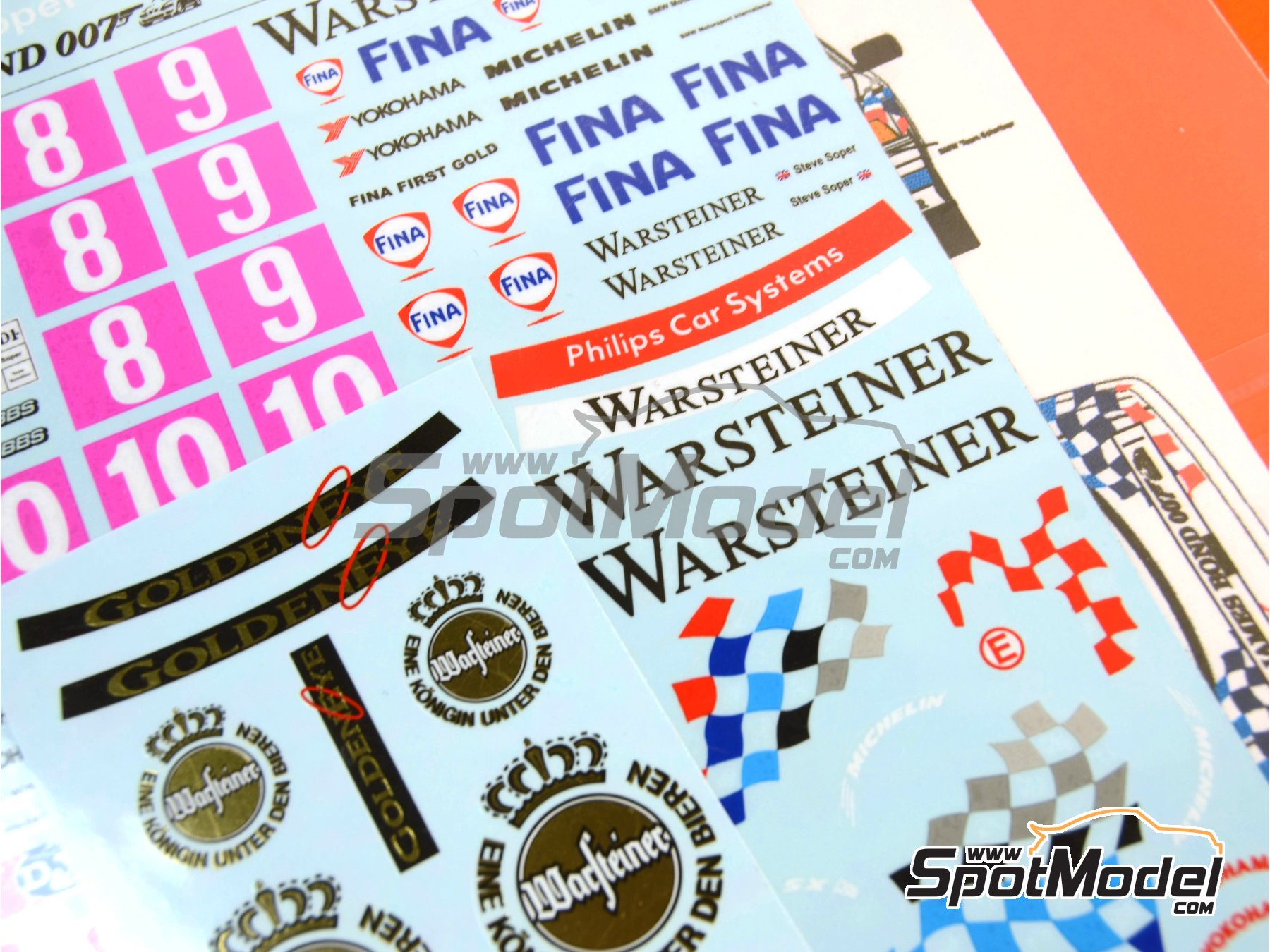 Image 10: BMW 318i Warsteiner - Guia Race of Macau, German Supertouring Championship - STW 1995 | Marking / livery in 1/24 scale manufactured by Decalpool (ref.DP109)