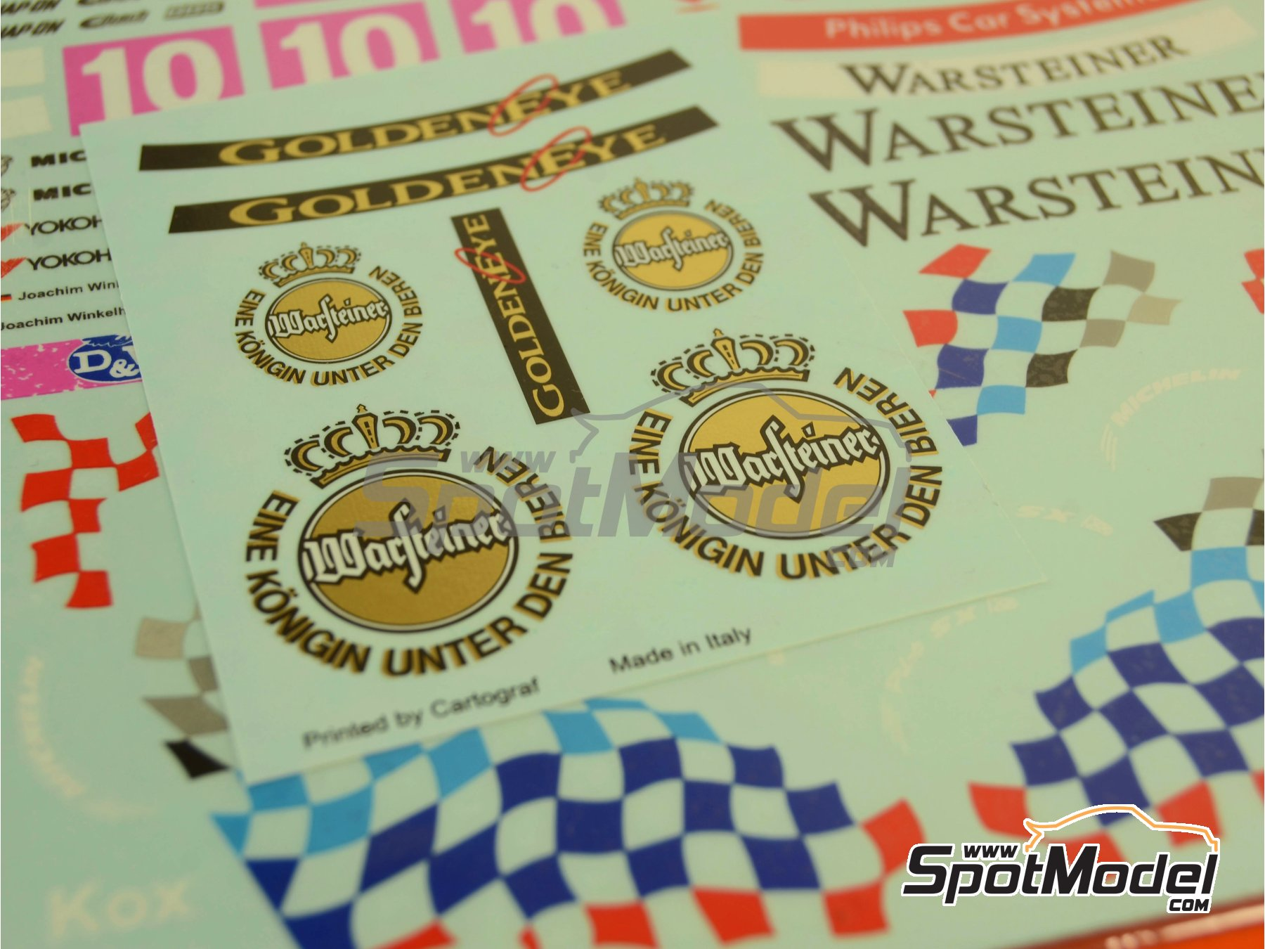 Image 12: BMW 318i Warsteiner - Guia Race of Macau, German Supertouring Championship - STW 1995 | Marking / livery in 1/24 scale manufactured by Decalpool (ref.DP109)