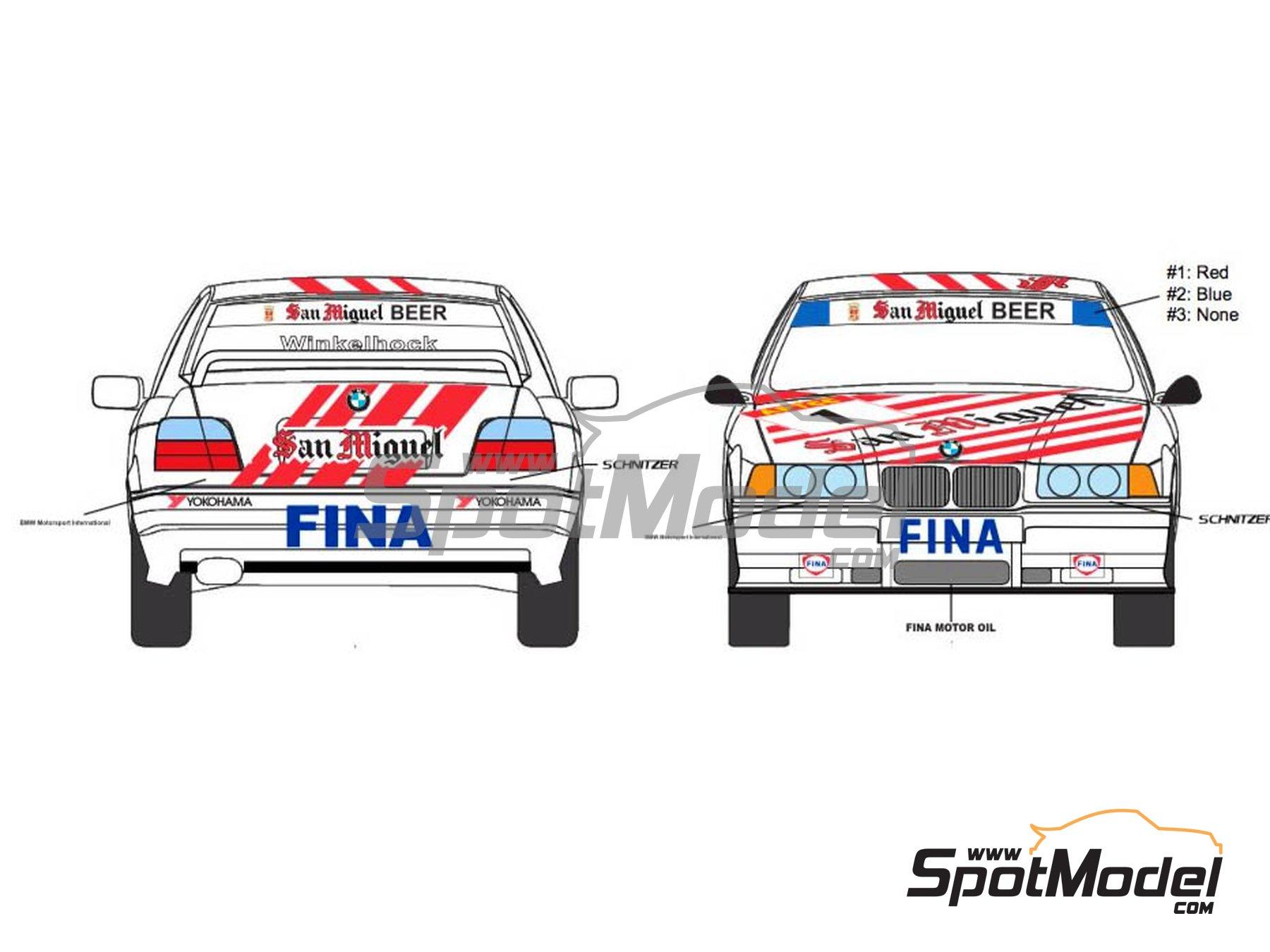 Image 2: BMW 318i San Miguel - Guia Race de Macau 1994 | Decoración en escala1/24 fabricado por Decalpool (ref.DP116)