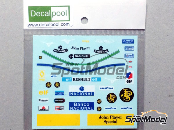 Image 2: Ayrton Senna John Player Special - FIA Formula 1 World Championship 1985 and 1986 | Marking / livery in 1/12 scale manufactured by Decalpool (ref.DP132)