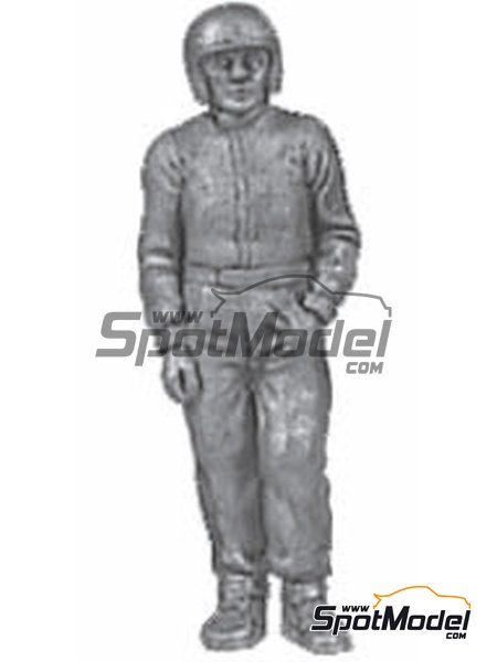 Standing casual pose, goggles, peak | Figure in 1/43 scale manufactured by Denizen (ref. RD030) image