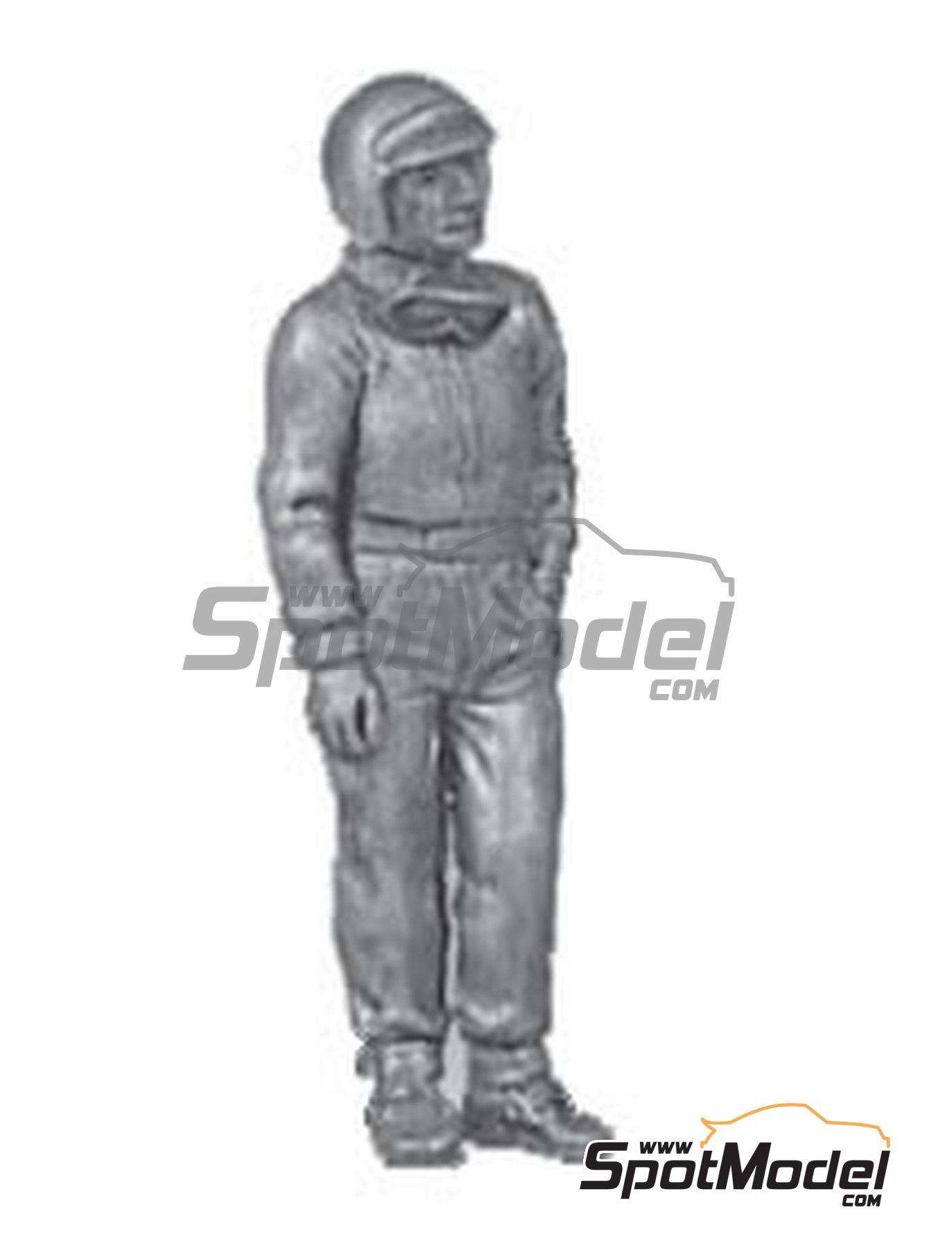 Standing casual pose, goggles, peak | Figure in 1/43 scale manufactured by Denizen (ref. RD031) image