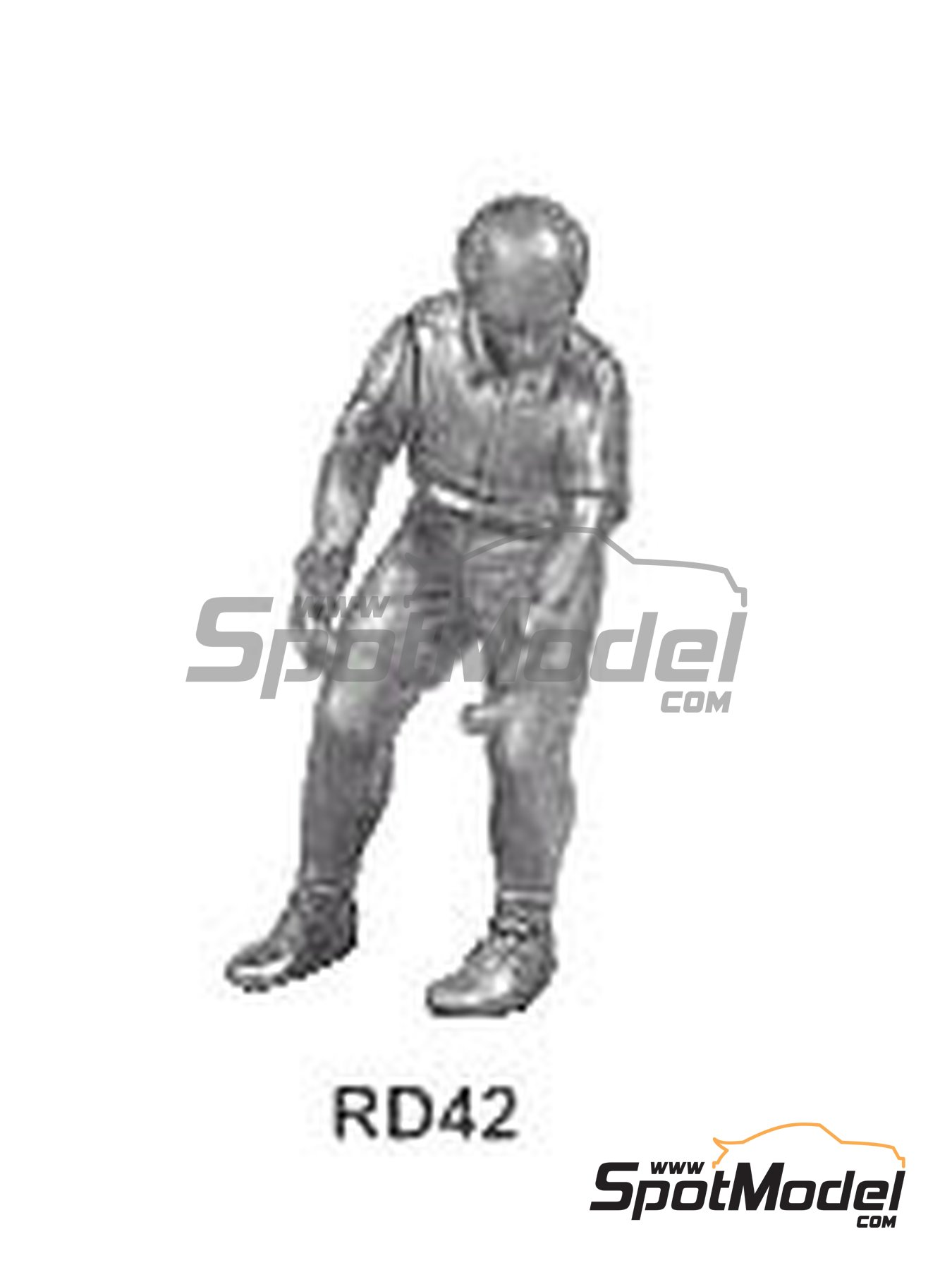 Crewman to hold wheel | Figure in 1/43 scale manufactured by Denizen (ref. RD042) image
