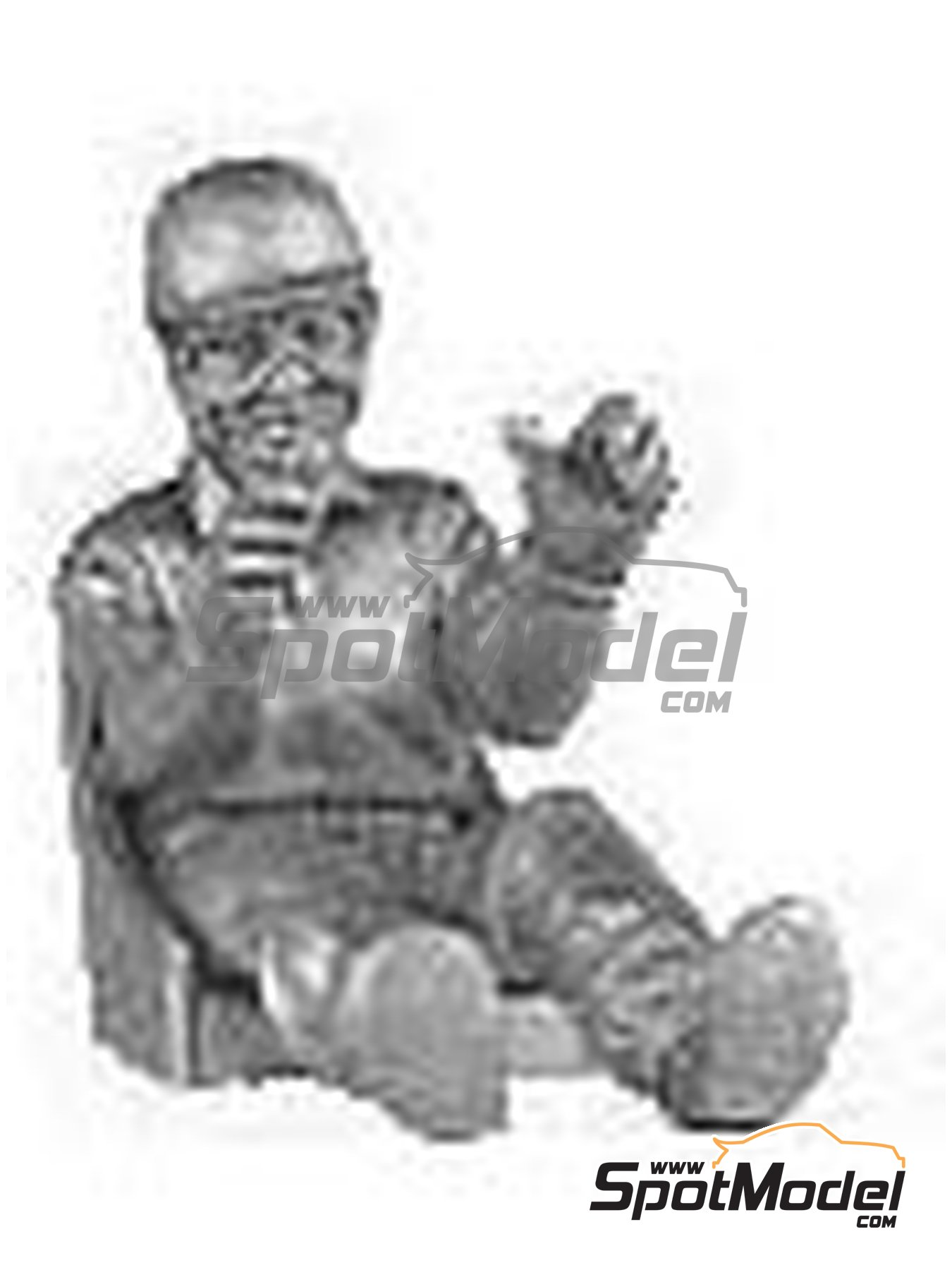 Mid 50's driver in car including seat | Figure in 1/43 scale manufactured by Denizen (ref. RD100) image