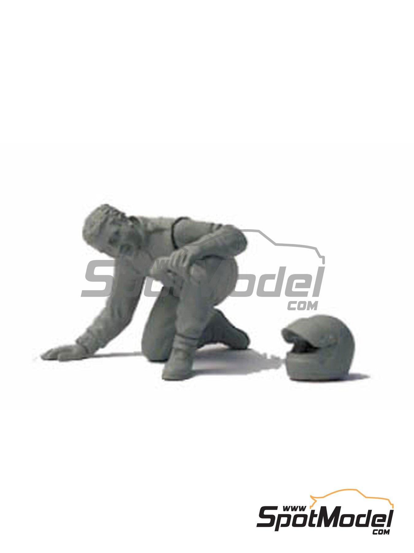 Driver looking under the car | Figure in 1/43 scale manufactured by Denizen (ref. RD115) image