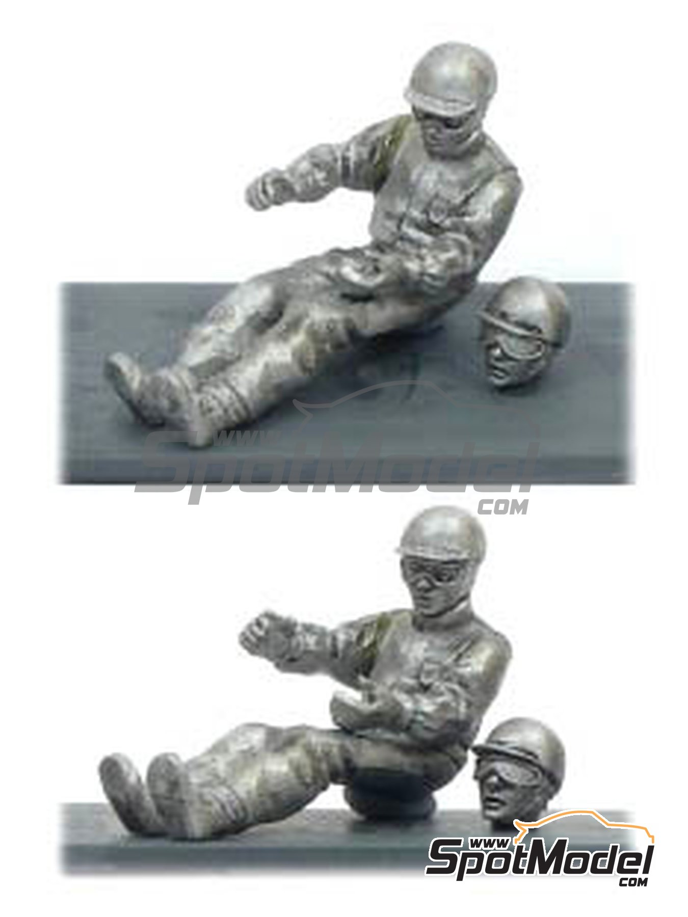 Stirling Moss in car | Figure in 1/43 scale manufactured by Denizen (ref.RP002) image