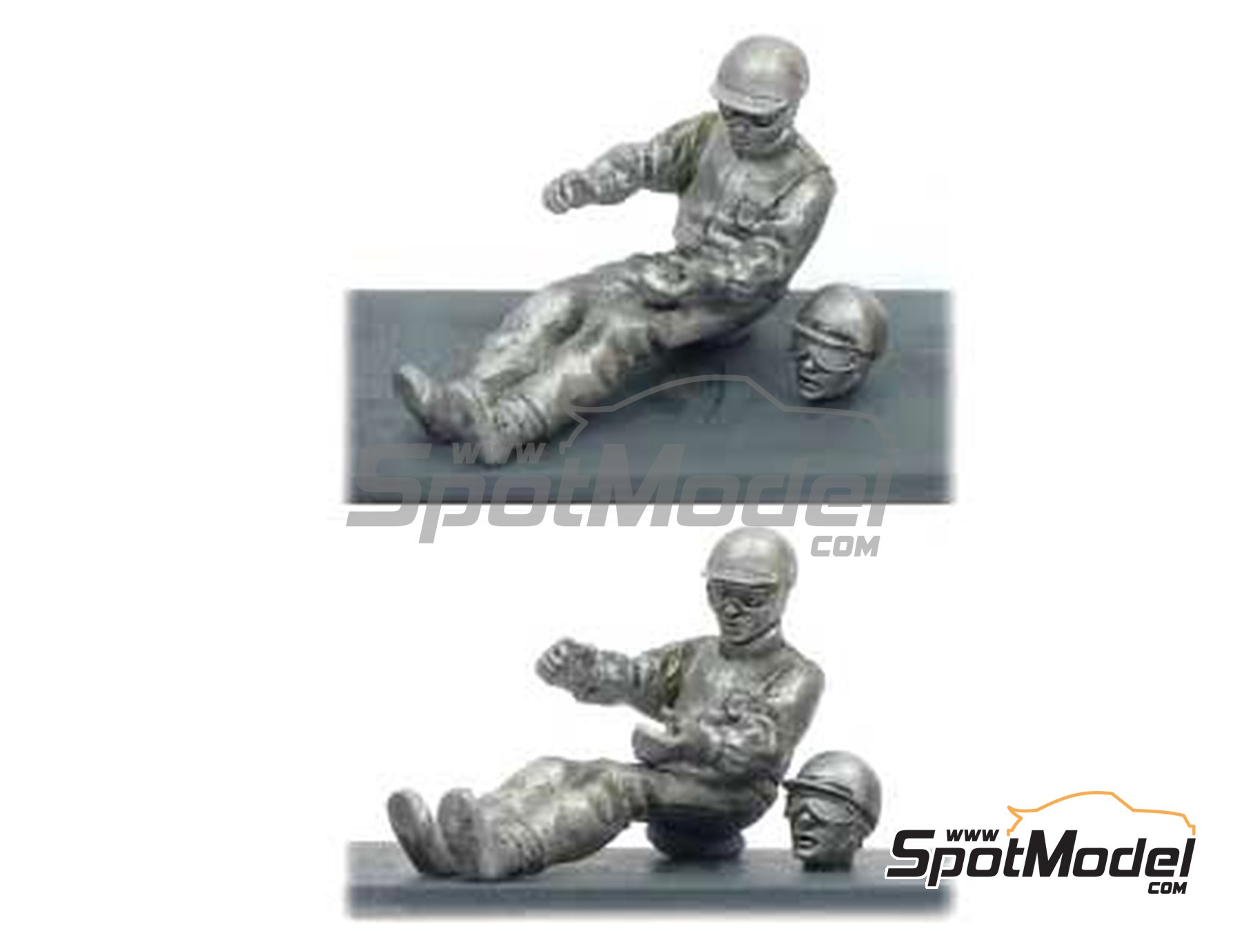 Image 1: Stirling Moss in car | Figure in 1/43 scale manufactured by Denizen (ref.RP002)