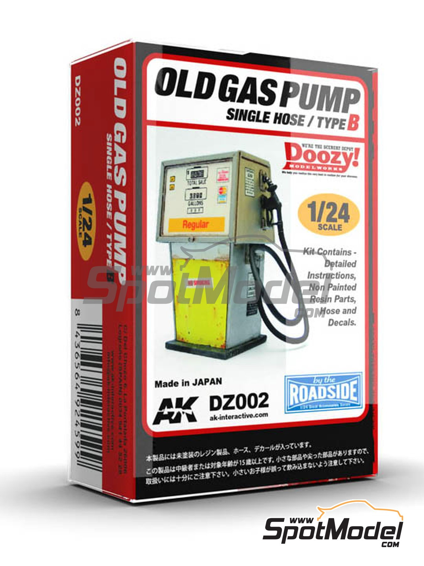 Old gas pump single hose - Type B | Model kit in 1/24 scale manufactured by Doozy Modelworks (ref. DZ002) image