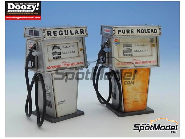 Image 4: Old gas pump single hose - Type C | Model kit in 1/24 scale manufactured by Doozy Modelworks (ref. DZ003)