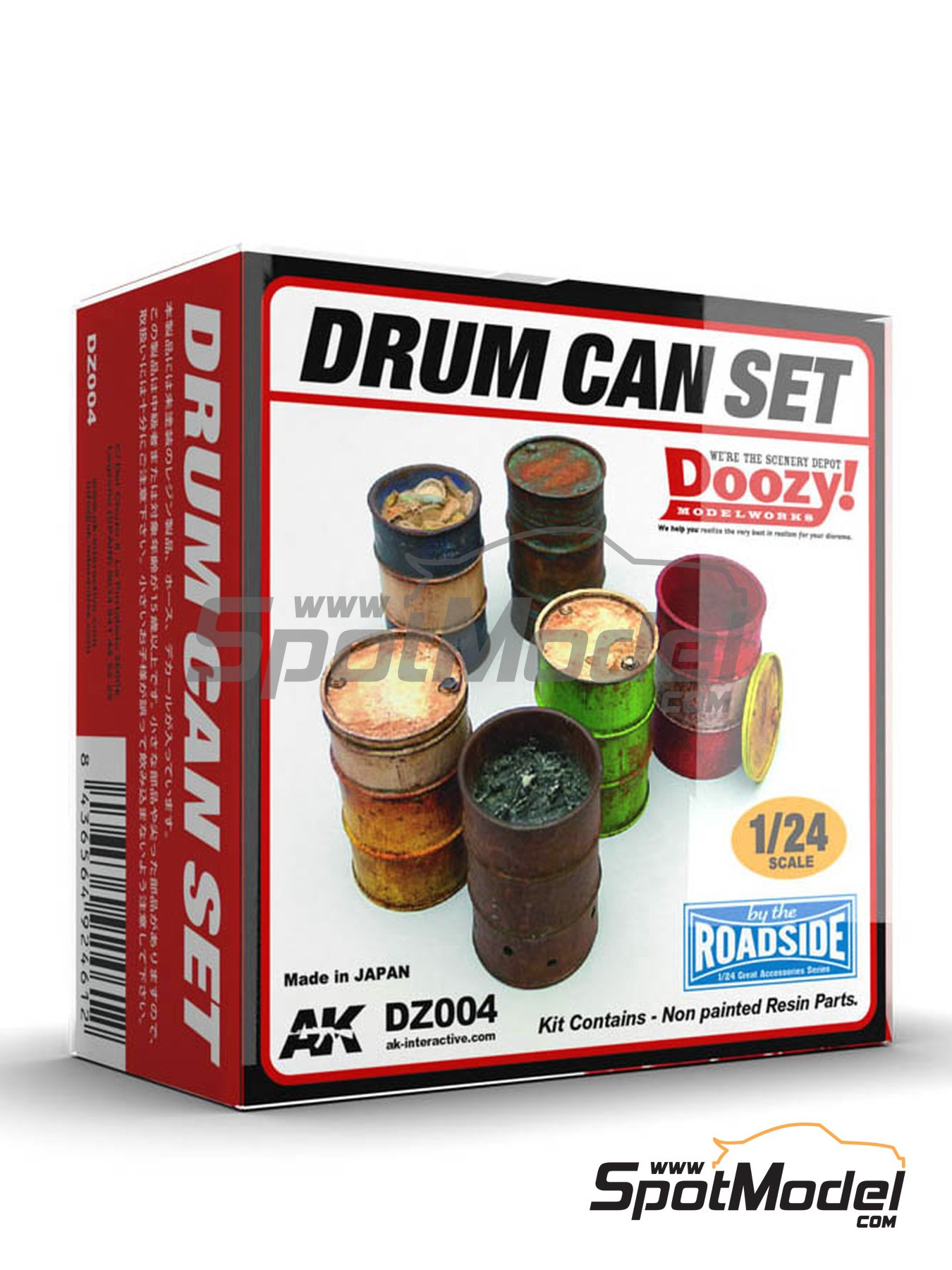 Drum can set | Model kit in 1/24 scale manufactured by Doozy Modelworks (ref. DZ004) image