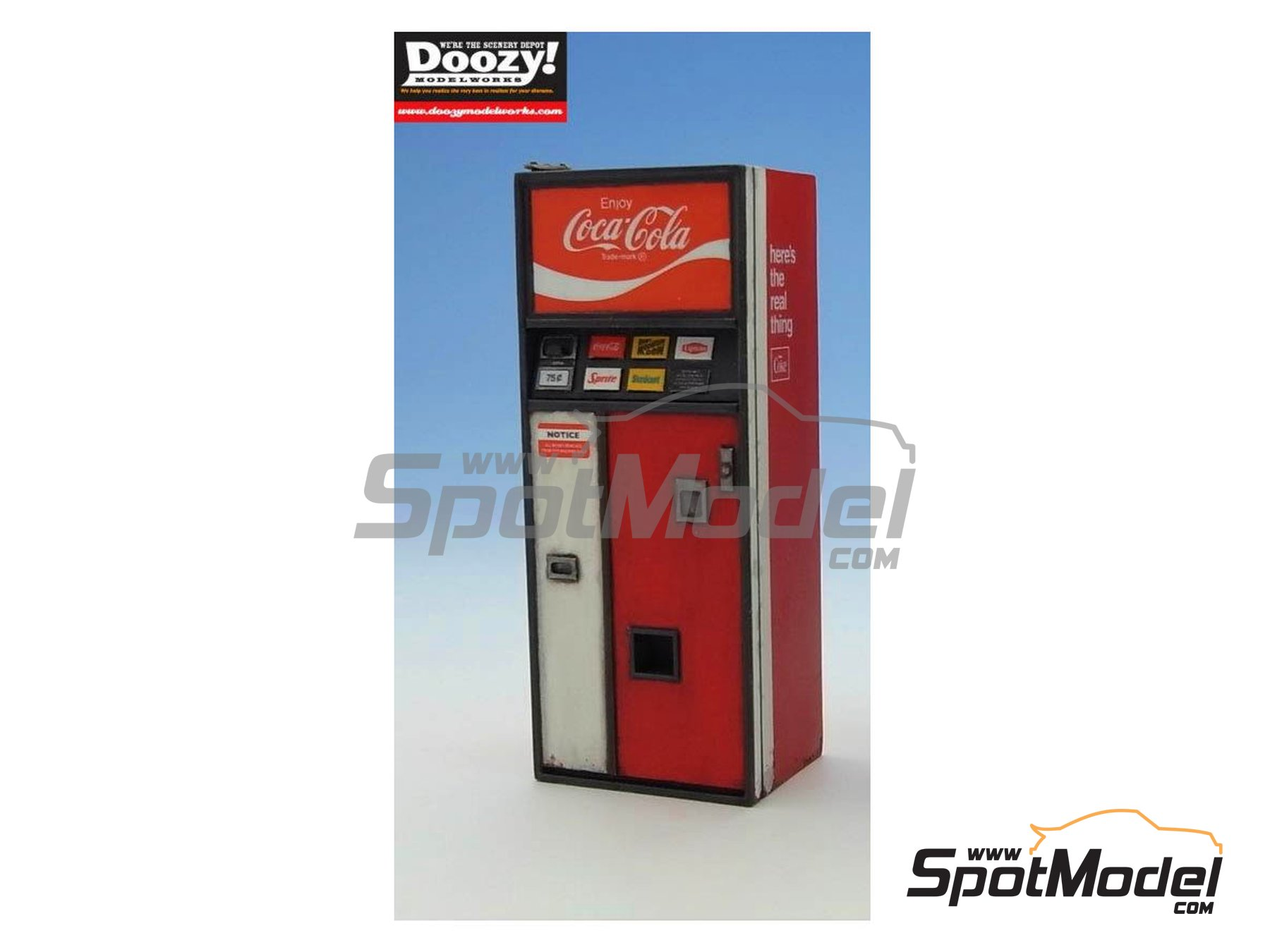 Image 3: Coca cola soda vending machine - Type A | Model kit in 1/24 scale manufactured by Doozy Modelworks (ref. DZ005)