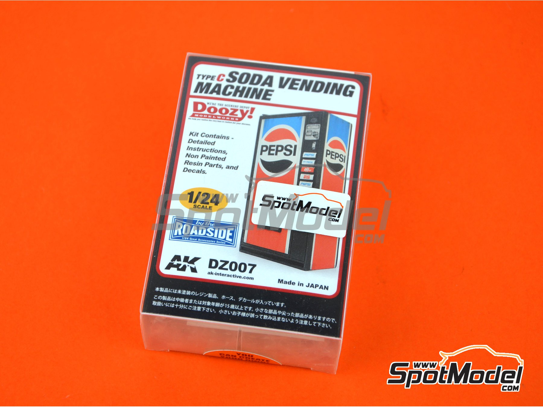 Image 1: Pepsi soda vending machine - Type C | Model kit in 1/24 scale manufactured by Doozy Modelworks (ref. DZ007)