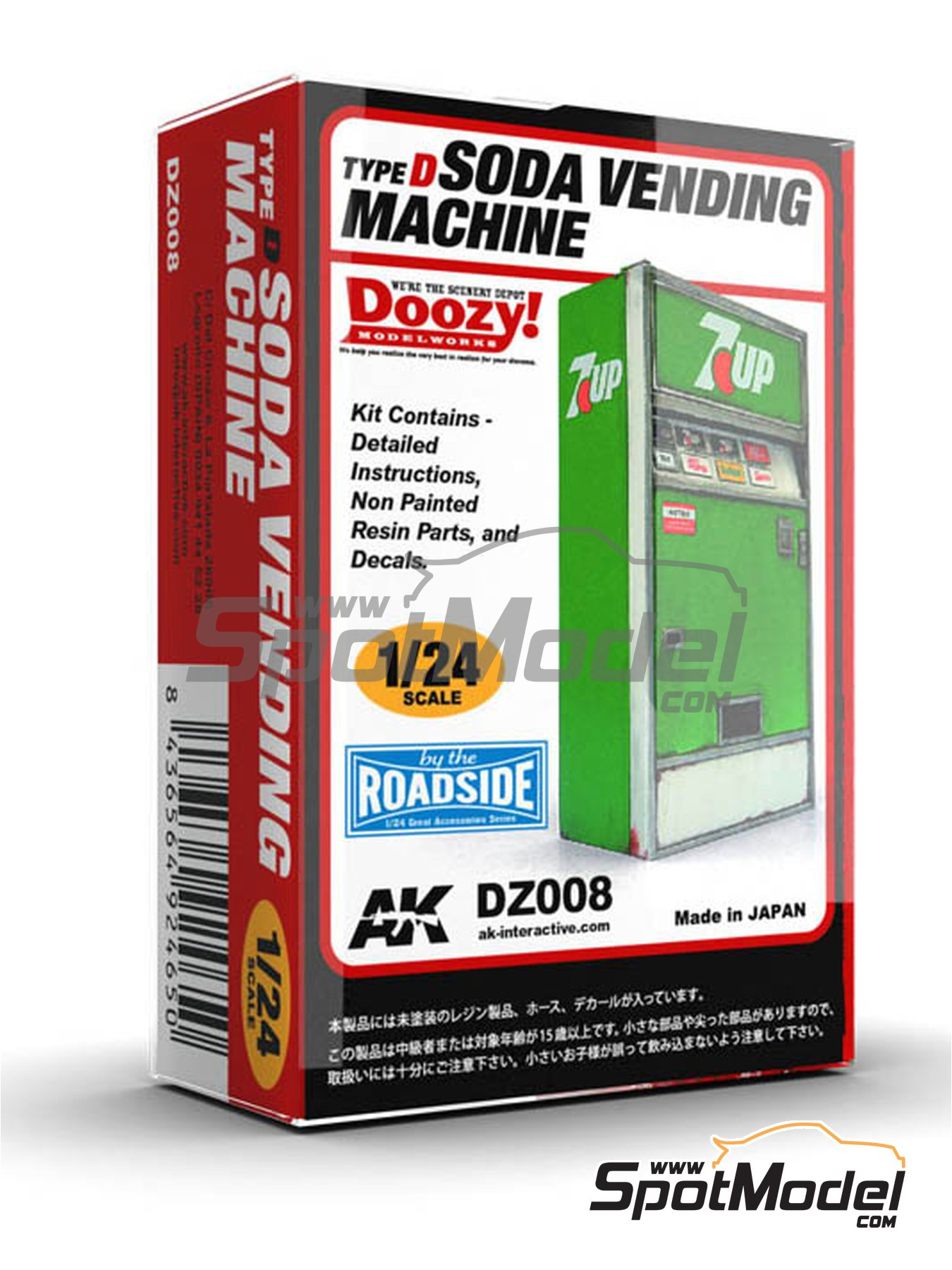 7UP soda vending machine - Type D | Model kit in 1/24 scale manufactured by Doozy Modelworks (ref.DZ008) image