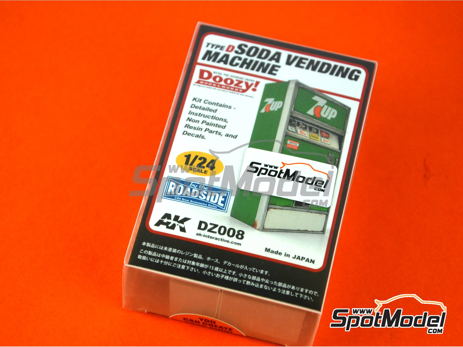 Image 1: 7UP soda vending machine - Type D | Model kit in 1/24 scale manufactured by Doozy Modelworks (ref.DZ008)