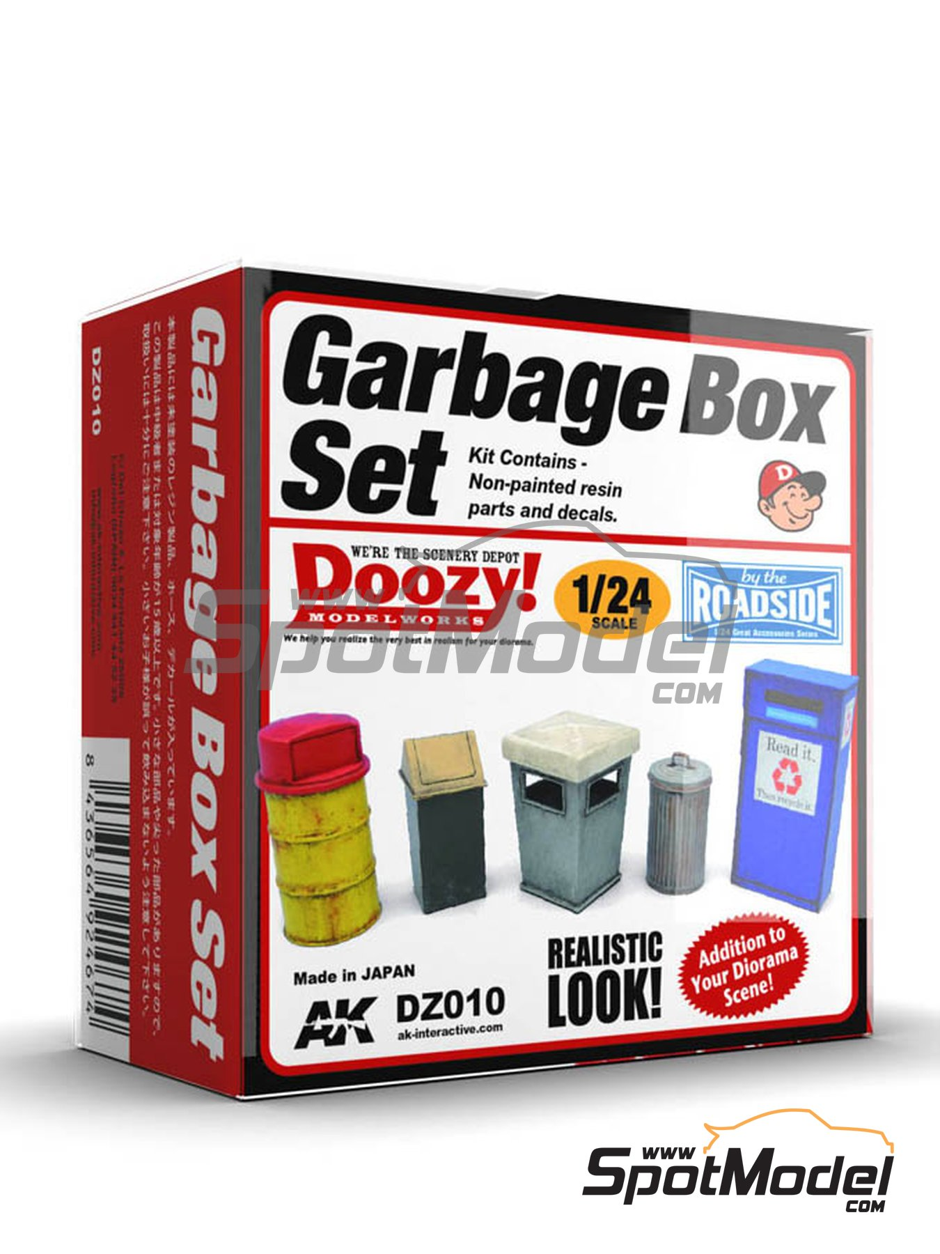 Garbage box set | Model kit in 1/24 scale manufactured by Doozy Modelworks (ref.DZ010) image