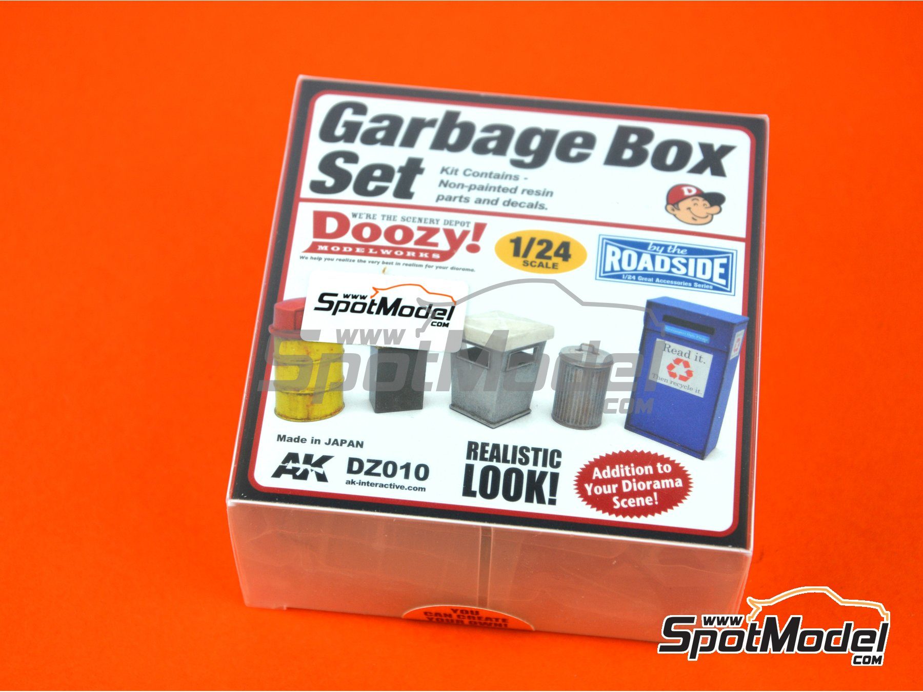 Image 1: Garbage box set | Model kit in 1/24 scale manufactured by Doozy Modelworks (ref.DZ010)