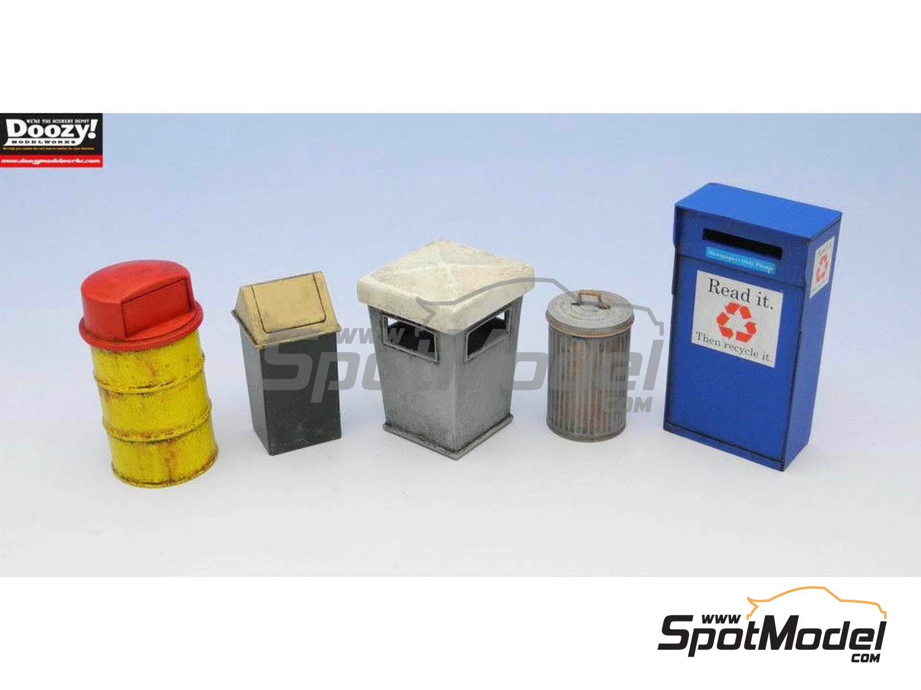 Image 3: Garbage box set | Model kit in 1/24 scale manufactured by Doozy Modelworks (ref.DZ010)