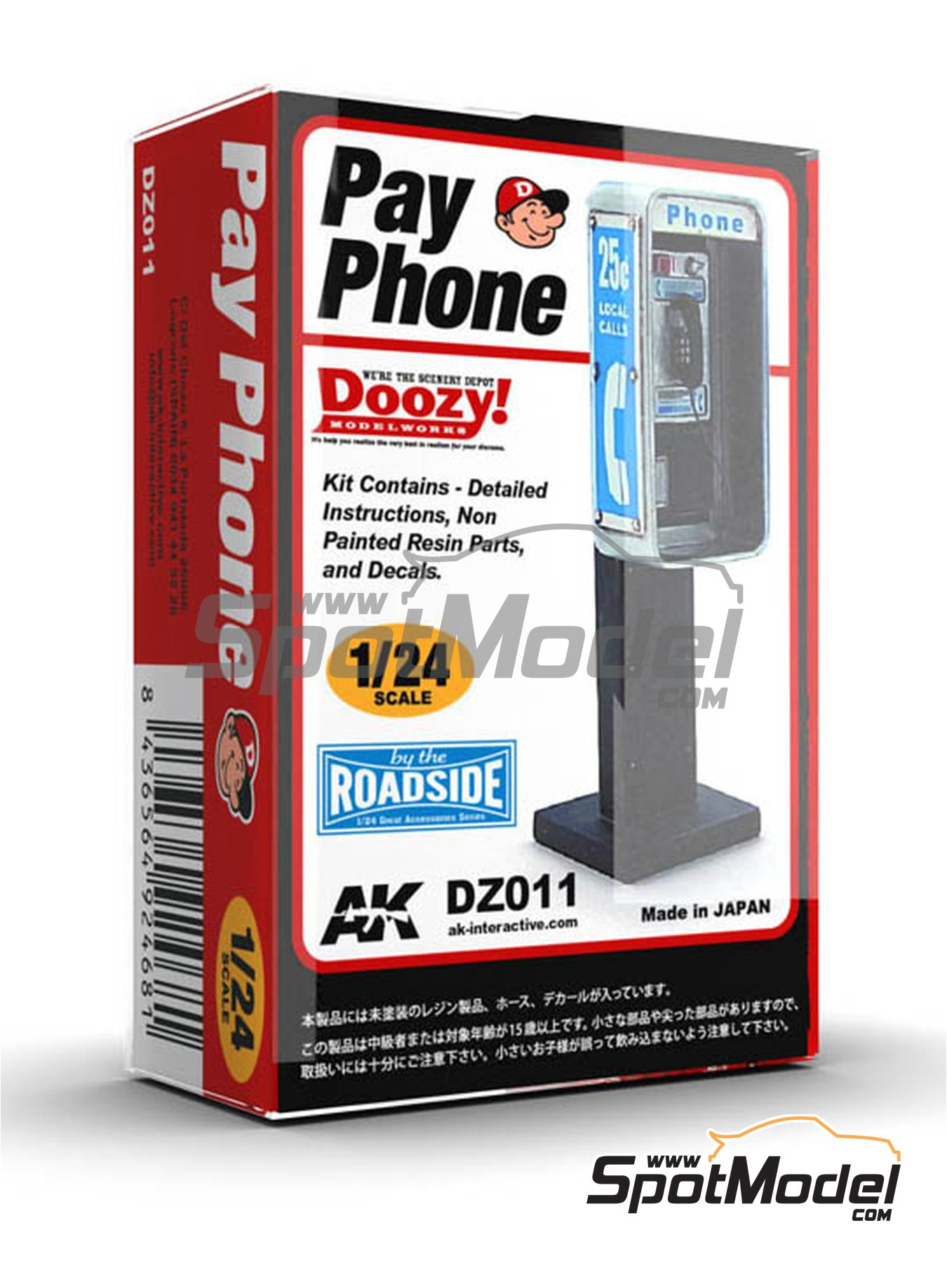 Pay phone | Model kit in 1/24 scale manufactured by Doozy Modelworks (ref. DZ011) image