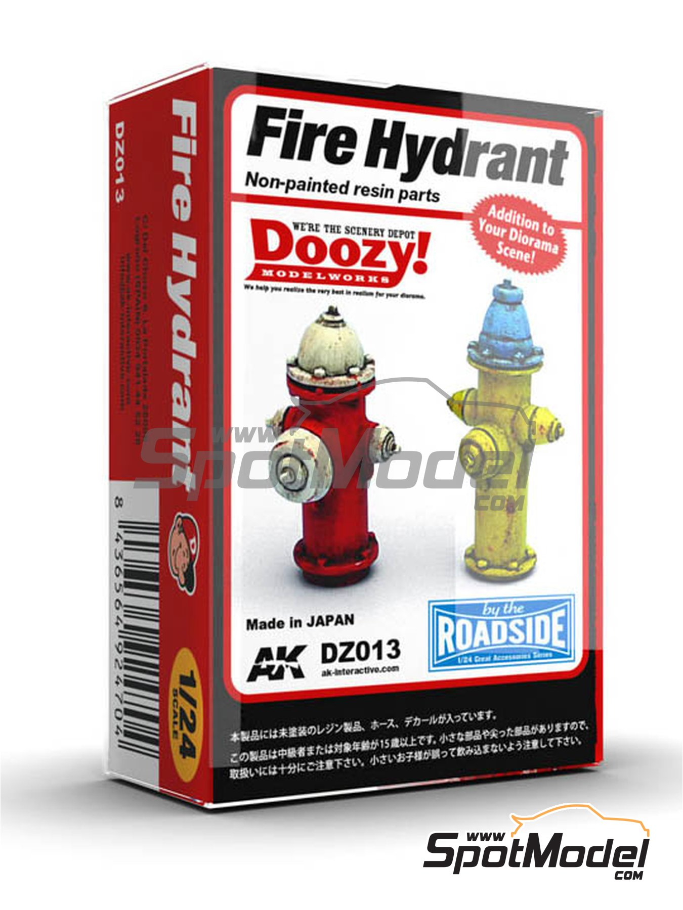 Fire hydrant | Model kit in 1/24 scale manufactured by Doozy Modelworks (ref. DZ013) image
