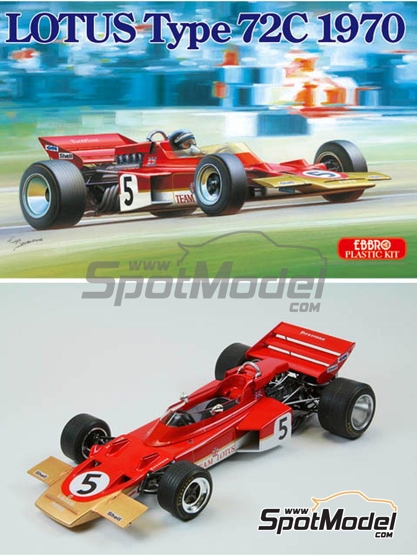 Lotus Ford Type 72C Gold Leaf - Campeonato del Mundo de Formula1 1970 | Maqueta de coche en escala1/20 fabricado por Ebbro (ref.EBR20001, tambien 20001 y EBRPK-01) image