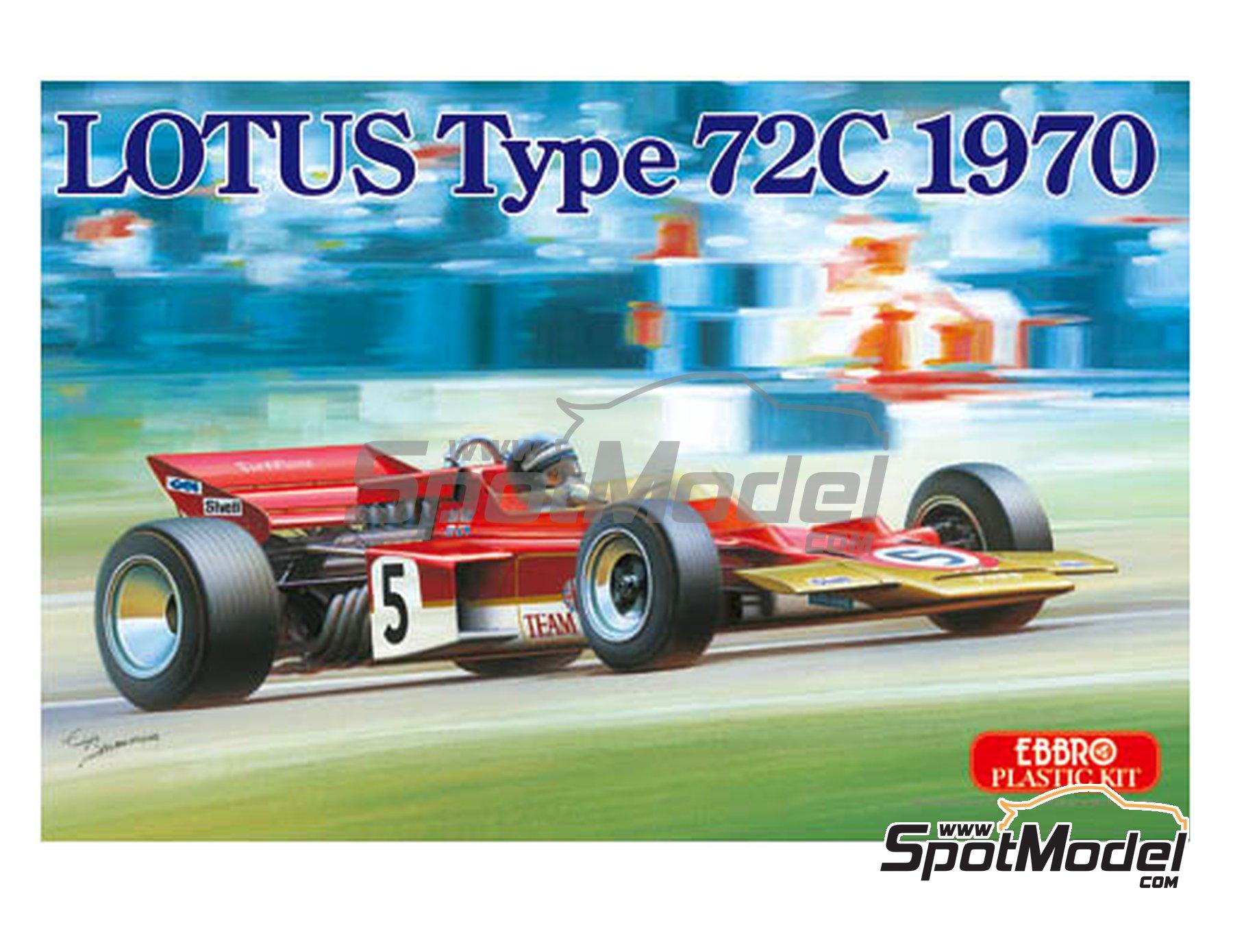 Image 1: Lotus Ford Type 72C Gold Leaf - Campeonato del Mundo de Formula1 1970 | Maqueta de coche en escala1/20 fabricado por Ebbro (ref.EBR20001, tambien 20001 y EBRPK-01)