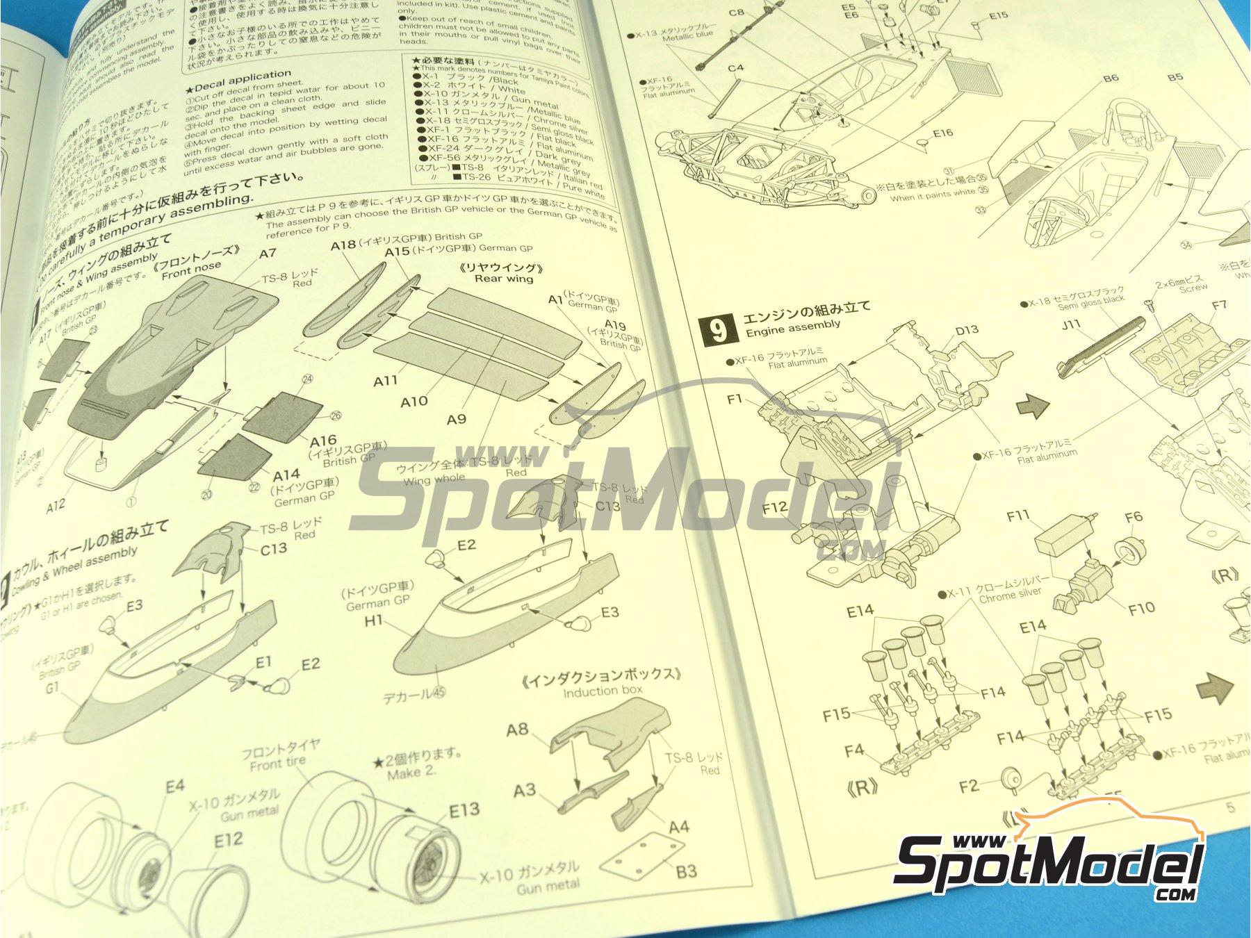 Image 6: Lotus Ford Type 72C Gold Leaf - Campeonato del Mundo de Formula1 1970 | Maqueta de coche en escala1/20 fabricado por Ebbro (ref.EBR20001, tambien 20001 y EBRPK-01)