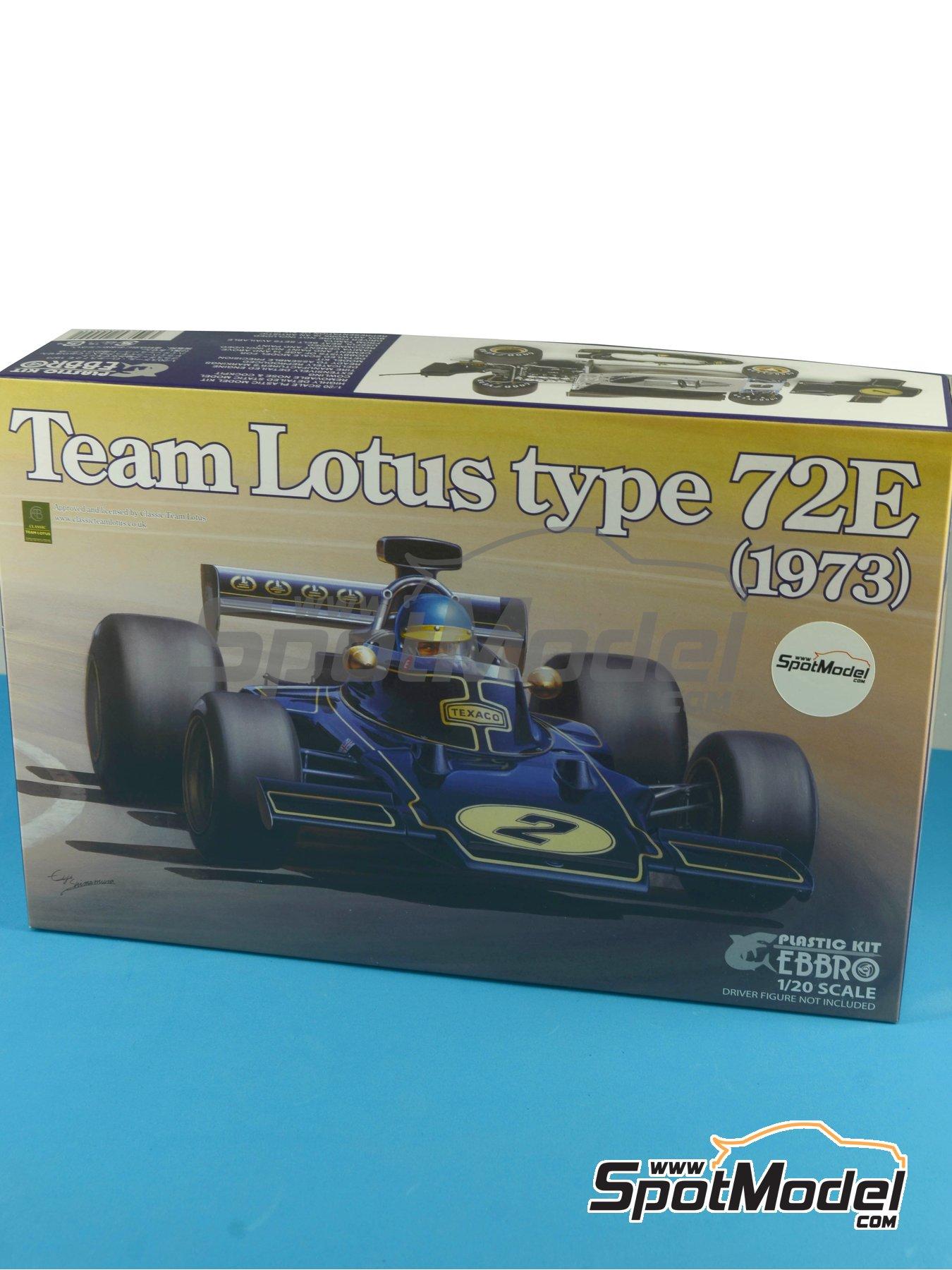 Lotus Ford Type 72E John Player Special - Campeonato del Mundo de Formula1 1972 y 1973 | Maqueta de coche en escala1/20 fabricado por Ebbro (ref.EBR20009, tambien 20009) image