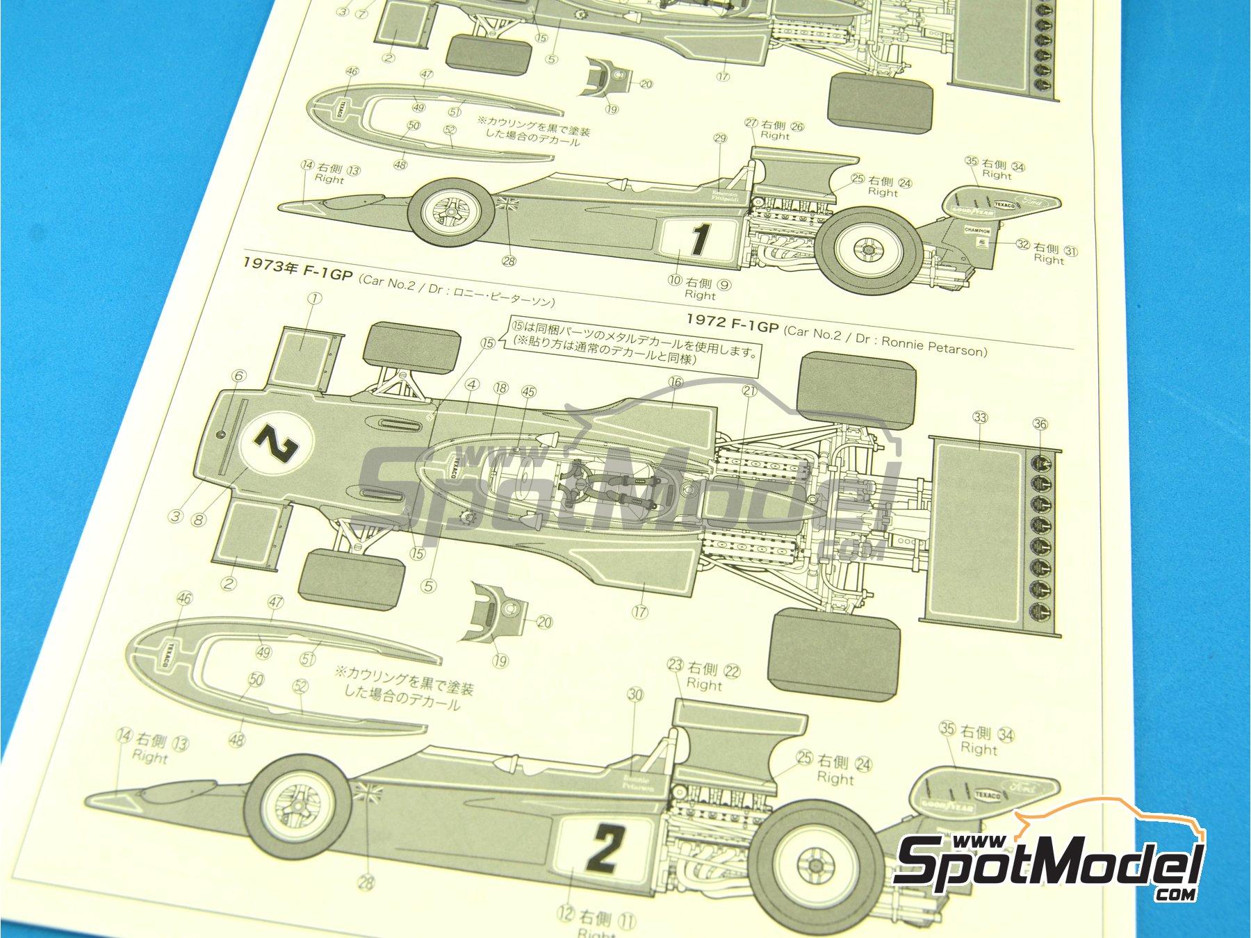 Image 5: Lotus Ford Type 72E John Player Special - Campeonato del Mundo de Formula1 1972 y 1973 | Maqueta de coche en escala1/20 fabricado por Ebbro (ref.EBR20009, tambien 20009)
