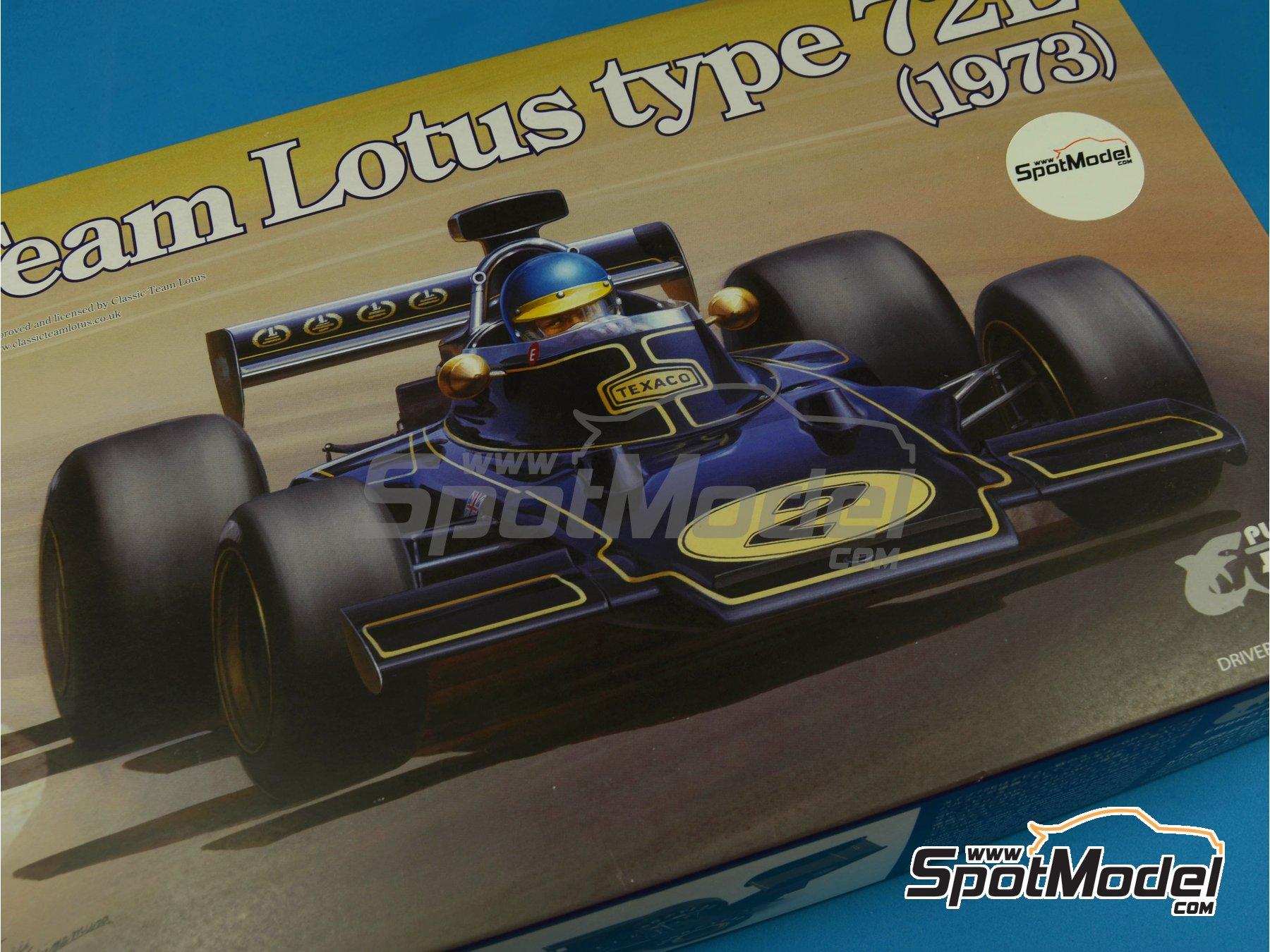 Image 17: Lotus Ford Type 72E John Player Special - Campeonato del Mundo de Formula1 1972 y 1973 | Maqueta de coche en escala1/20 fabricado por Ebbro (ref.EBR20009, tambien 20009)