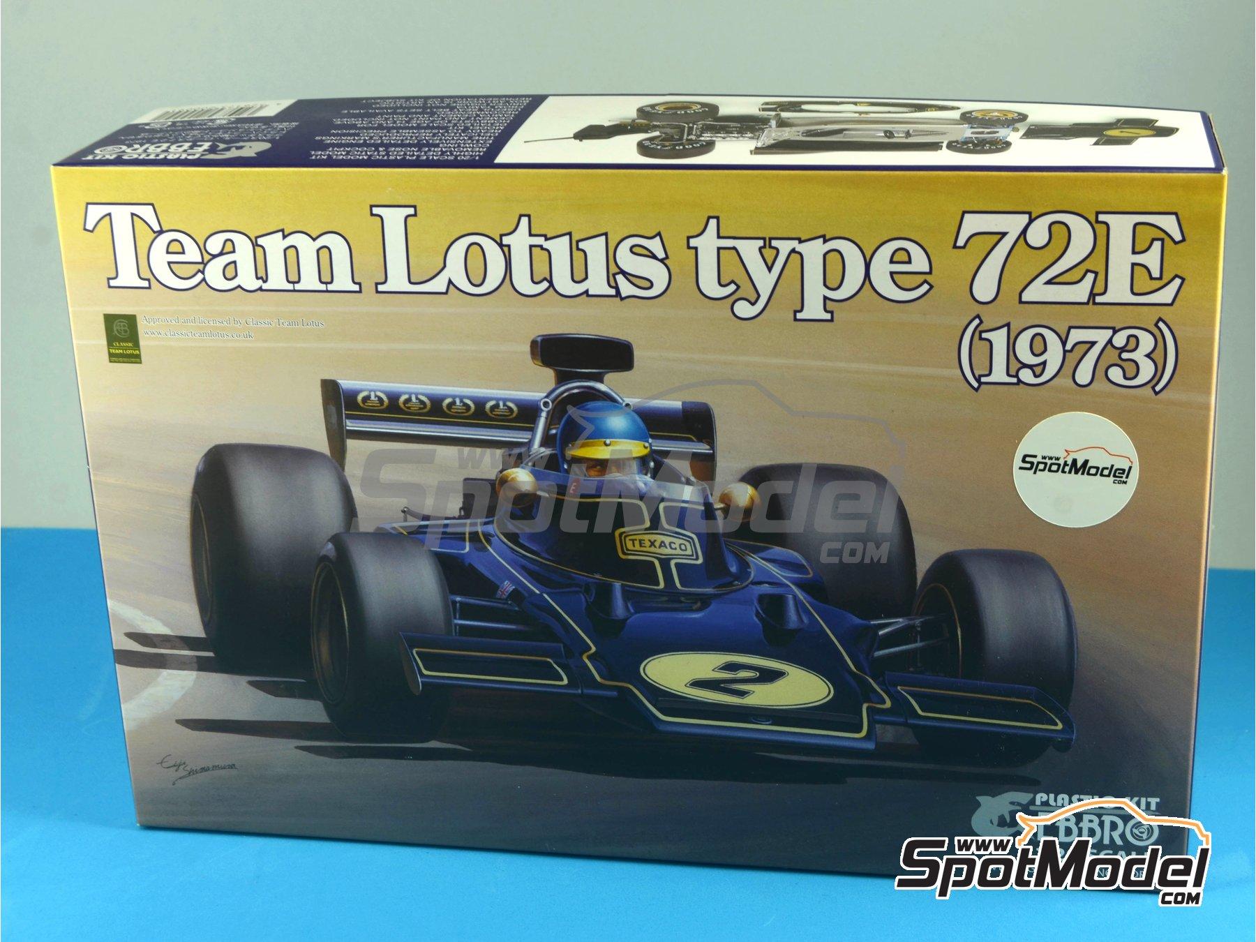 Image 18: Lotus Ford Type 72E John Player Special - Campeonato del Mundo de Formula1 1972 y 1973 | Maqueta de coche en escala1/20 fabricado por Ebbro (ref.EBR20009, tambien 20009)