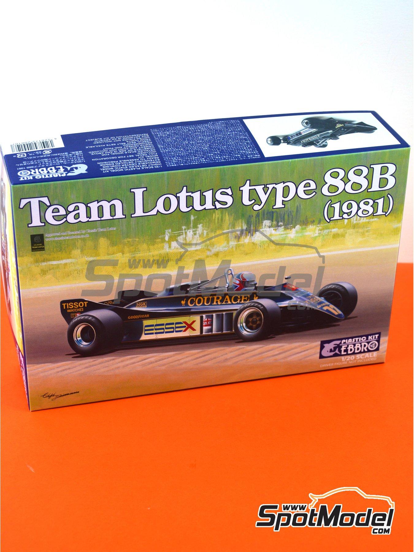 Lotus Ford Type 88B Essex - Gran Premio de Fórmula 1 de Inglaterra 1981 | Maqueta de coche en escala1/20 fabricado por Ebbro (ref.EBR20010, tambien 20010) image