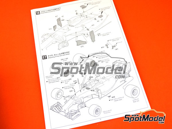 Image 8: McLaren Honda MP4/30 Mobil1 - Japan Grand Prix 2015 | Model car kit in 1/20 scale manufactured by Ebbro (ref. EBR20015)
