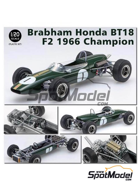Brabham Honda BT18 F2 -  1966 | Model car kit in 1/20 scale manufactured by Ebbro (ref. EBR20016) image