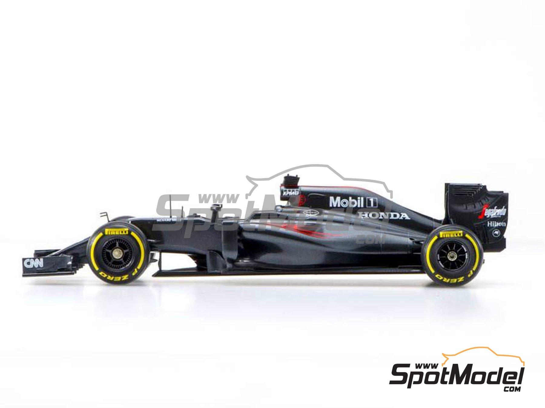 Image 2: McLaren Honda MP4/31 - Spanish Grand Prix 2016 | Model car kit in 1/20 scale manufactured by Ebbro (ref.EBR20018)